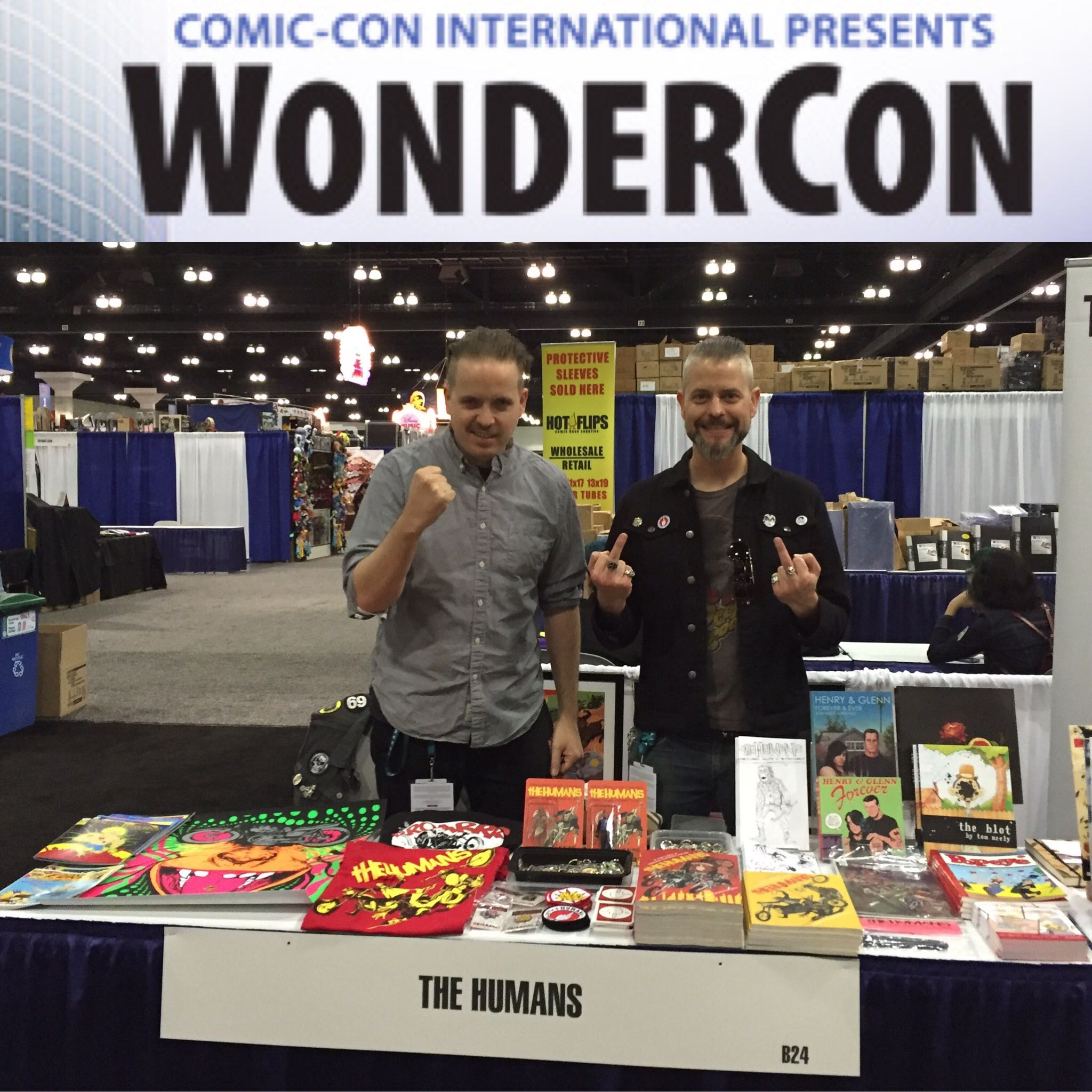 The HUMANS flung shit and rampaged on WonderCon!!!