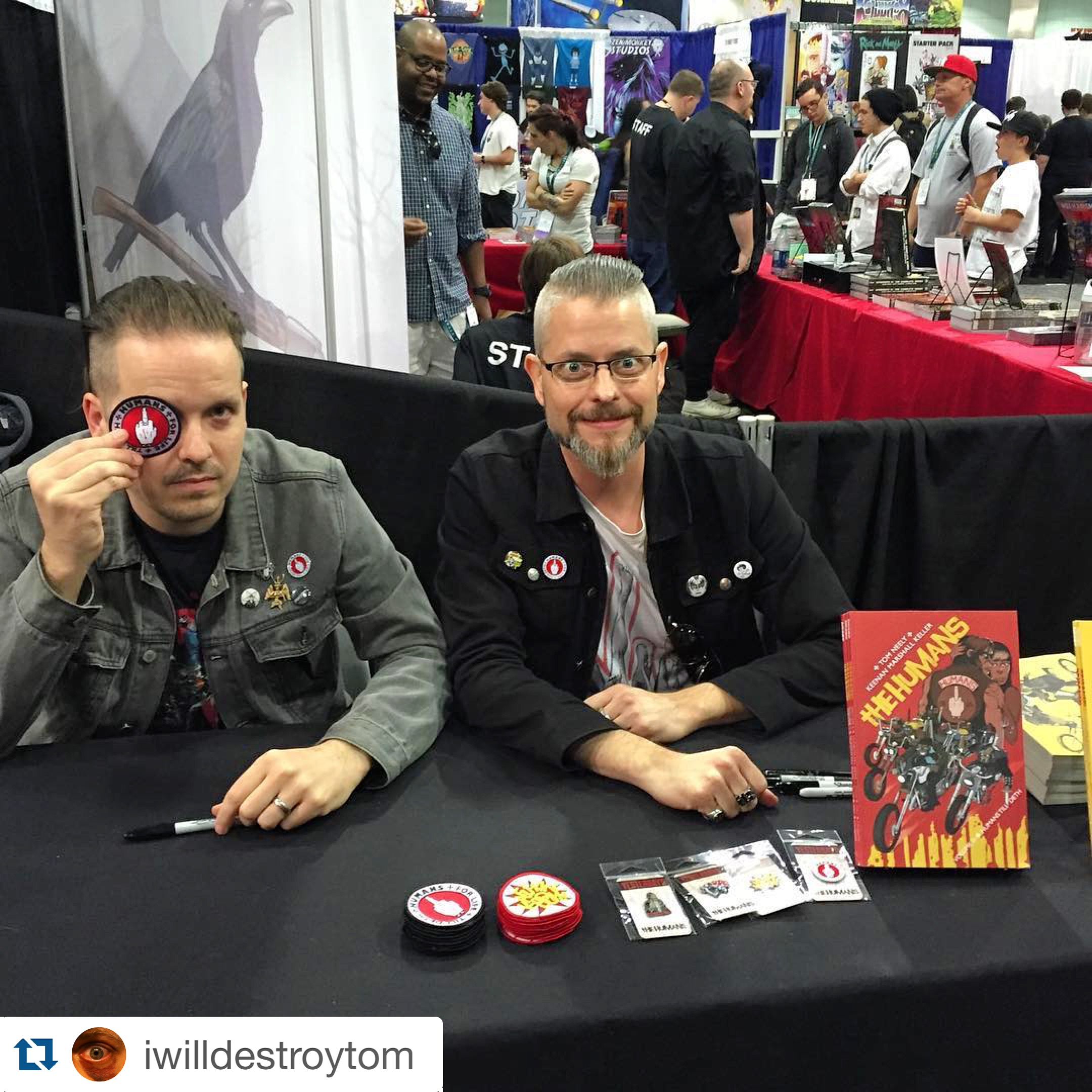 We did a few signings at the IMAGE Comics booth as well. Not sure where Tom got the speed...