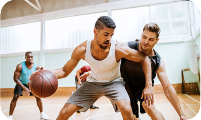 """ADULT SPORTS - Whether you miss """"suiting up"""" or are new to team sports, the Y's sports leagues provide a perfect opportunity to be active, social and to reconnect with a sport you love."""