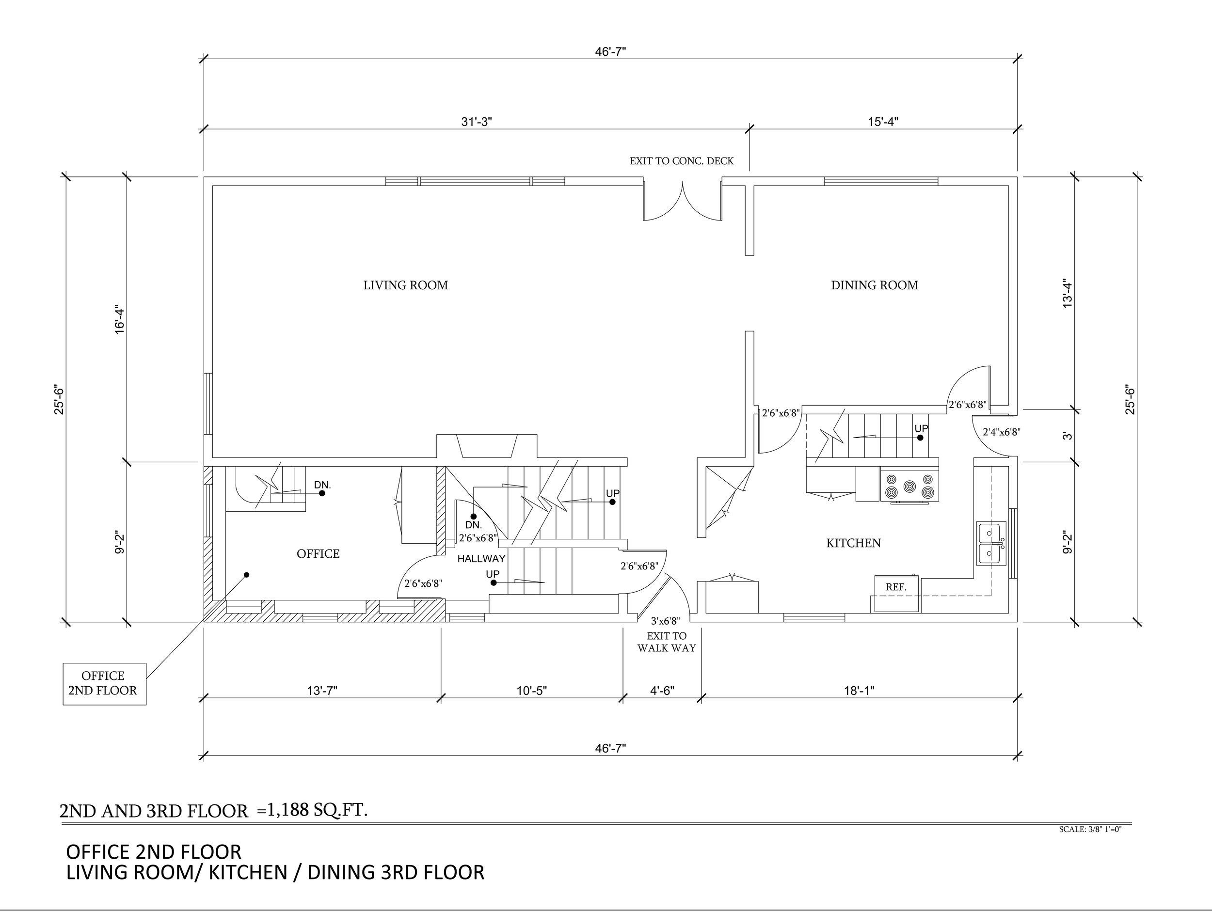 As Built 2nd & 3rd Floor 3355 N copy.Knoll Dr 3-15-15.jpg