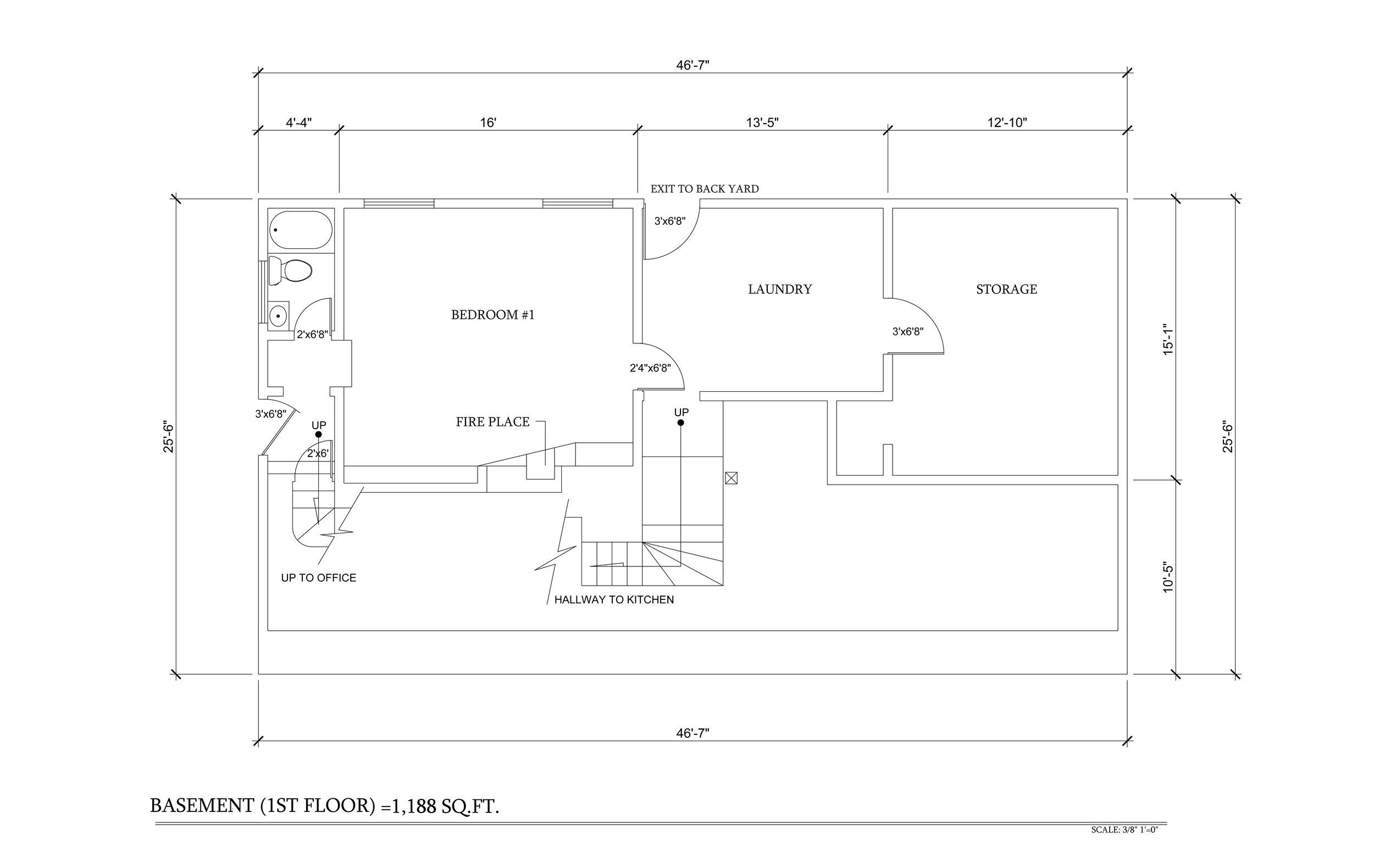 As Built Basement 1st Floor 3355 N copy.Knoll Dr 3-15-15.jpg