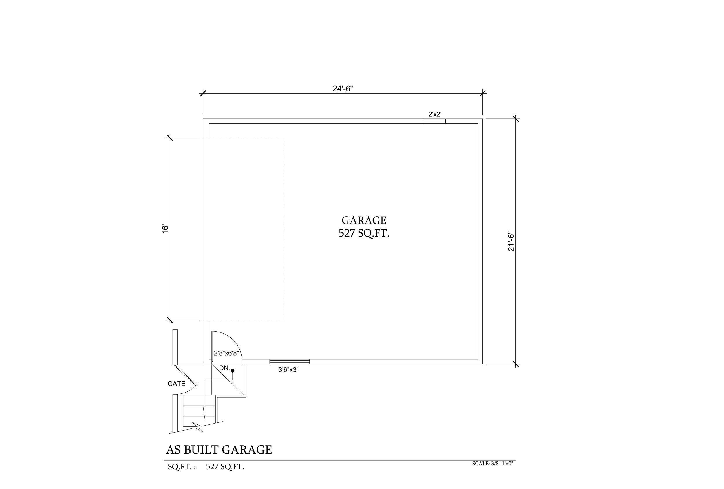 As Built Garage 3355 N copy.Knoll Dr 3-15-15.jpg