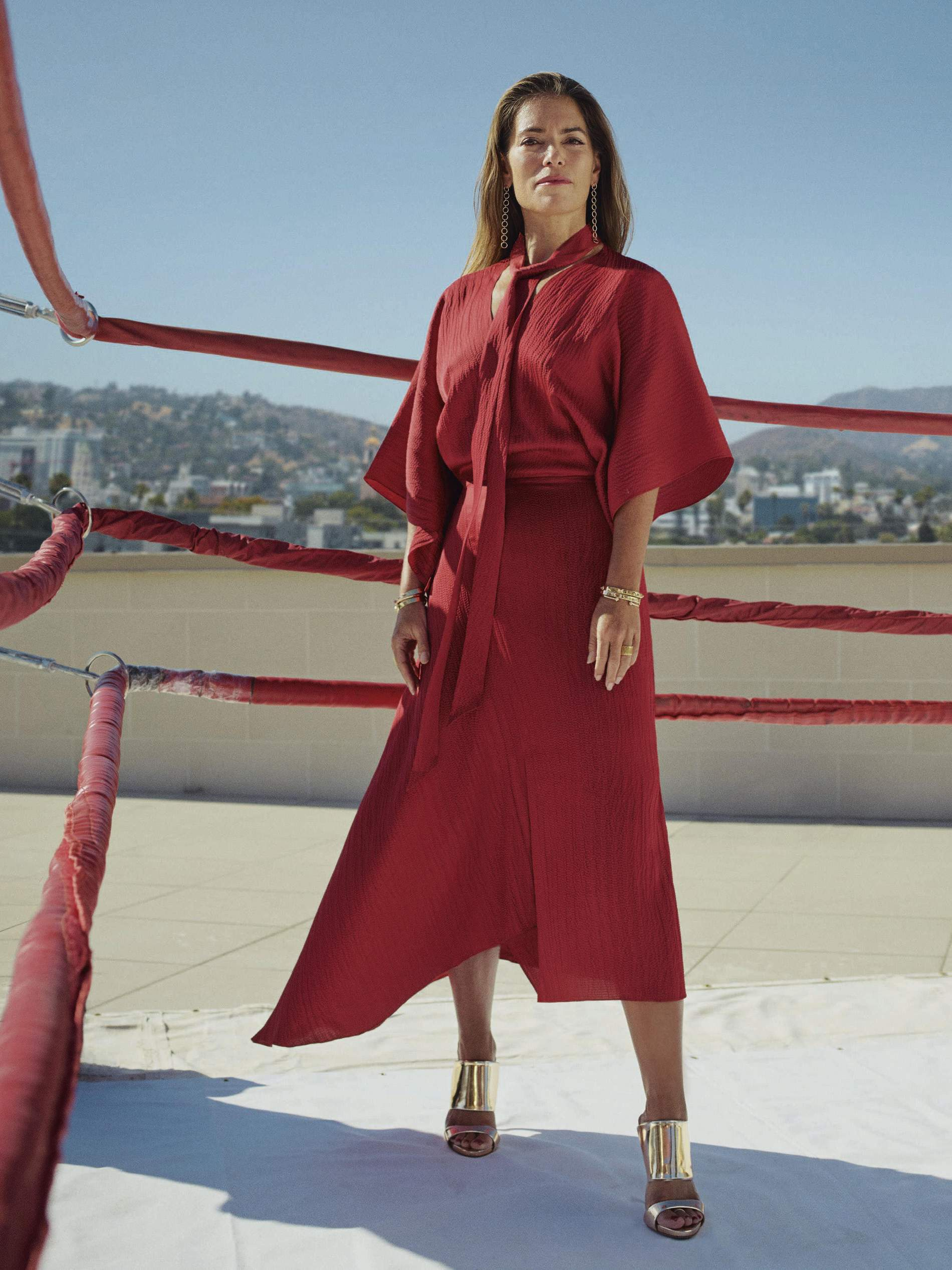 Laura Wasser: badass attorney, mom of two, and fellow Point Dume Club homeowner. Photo by Matthew Sprout for  Net-a-Porter .