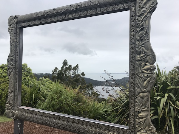 Lookout from the Waitakere Ranges Regional Park's visitor centre