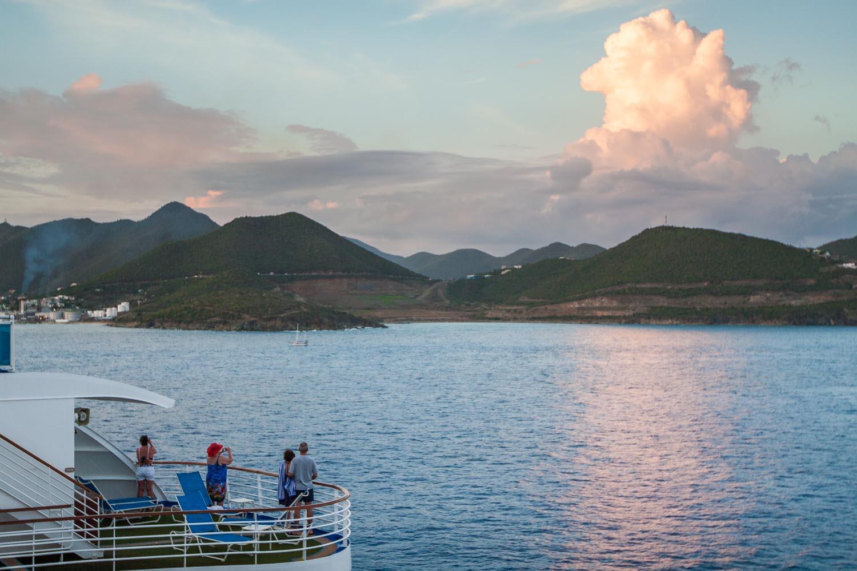Working on a cruise ship:Saint Maarten, Netherlands Antilles.