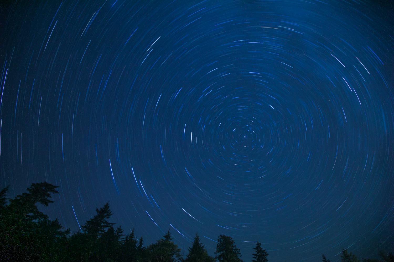 Star Trails: Kennedy Lake, BC