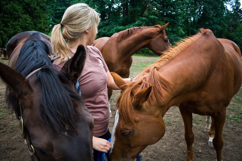 Tess and Holly on the Ranch:Kamloops, BC