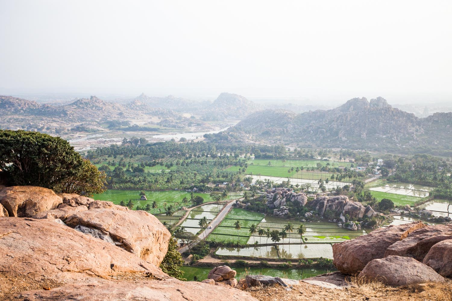 View from the Hanuman Temple: Hampi, Karnataka