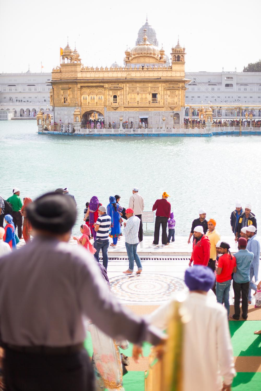 The Harmandir Sahib, also known as the Golden Temple: Amritsar, Punjab