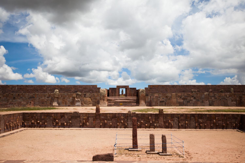 Pre-Inca Archaeological site: Tiwanaku, Bolivia