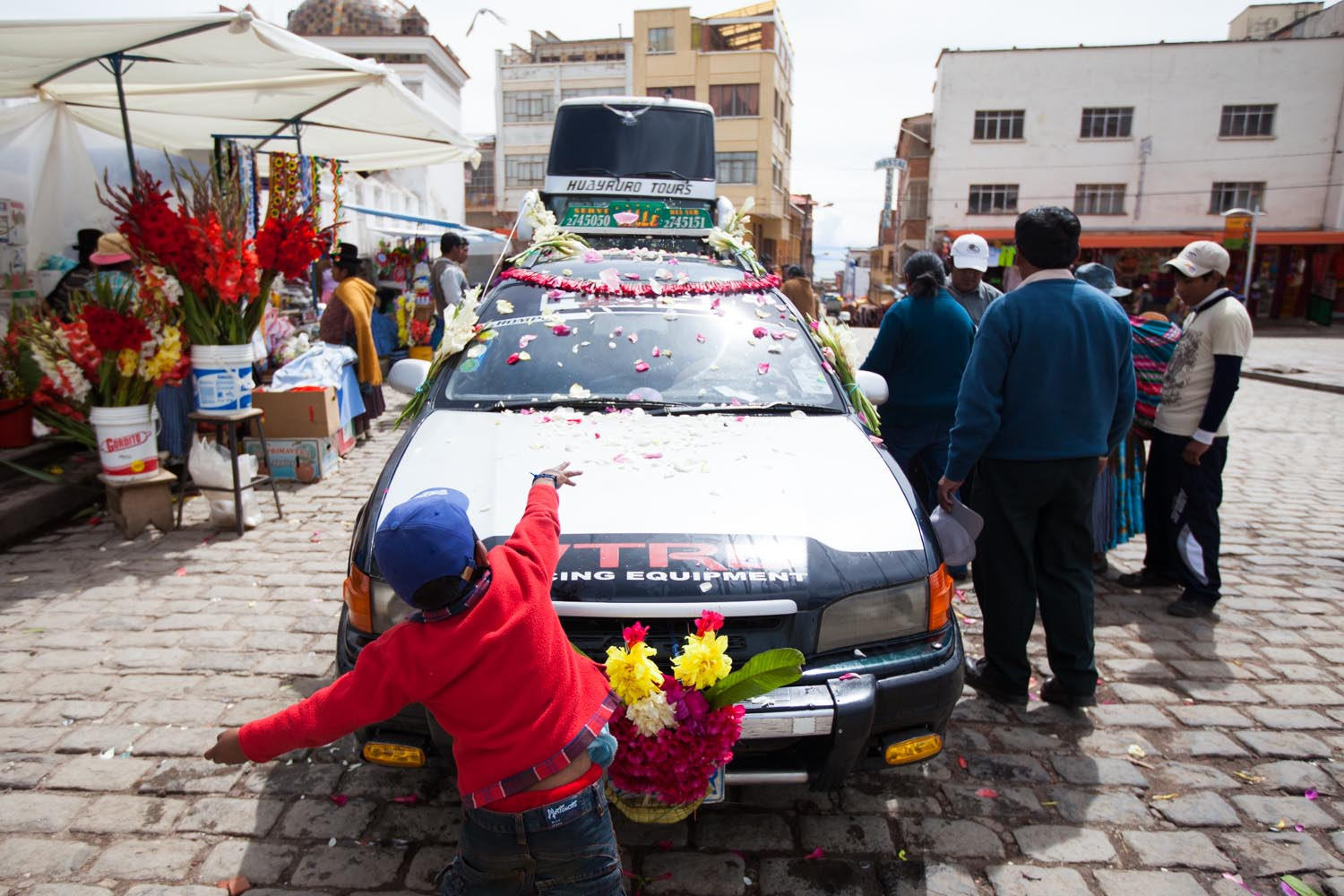 Blessings for the journey: Copacabana, Bolivia