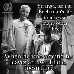 """Clarence Odbody, AS2 talking to George Bailey in """"It's a Wonderful Life"""""""