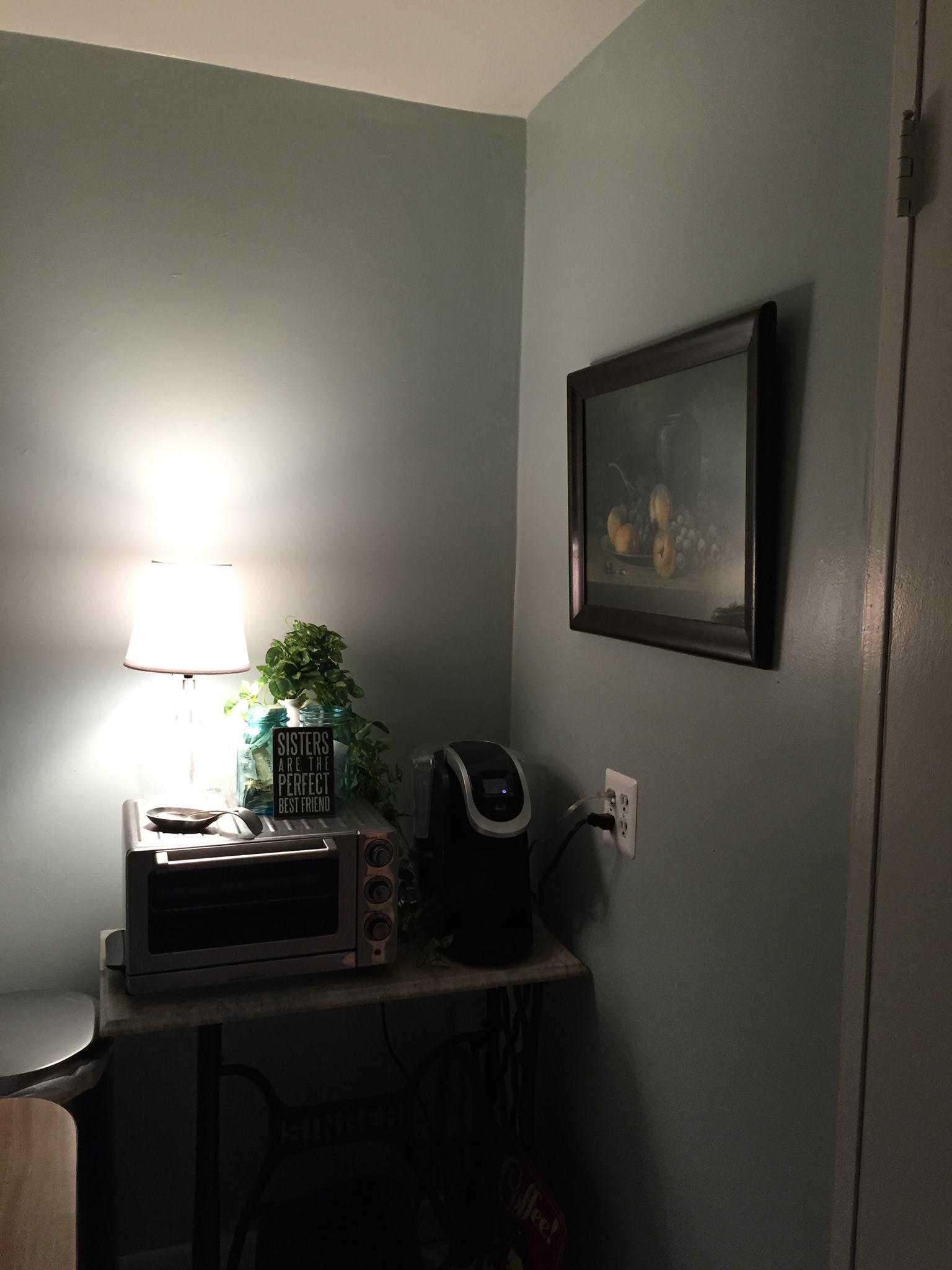 A peak at Karen's freshly painted NYC kitchen!