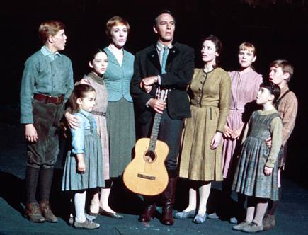 The Von Trapp family singing in The Sound of Music