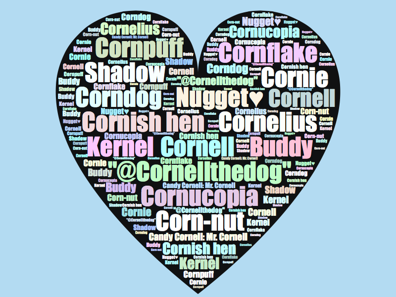 Cornell's many pet names!