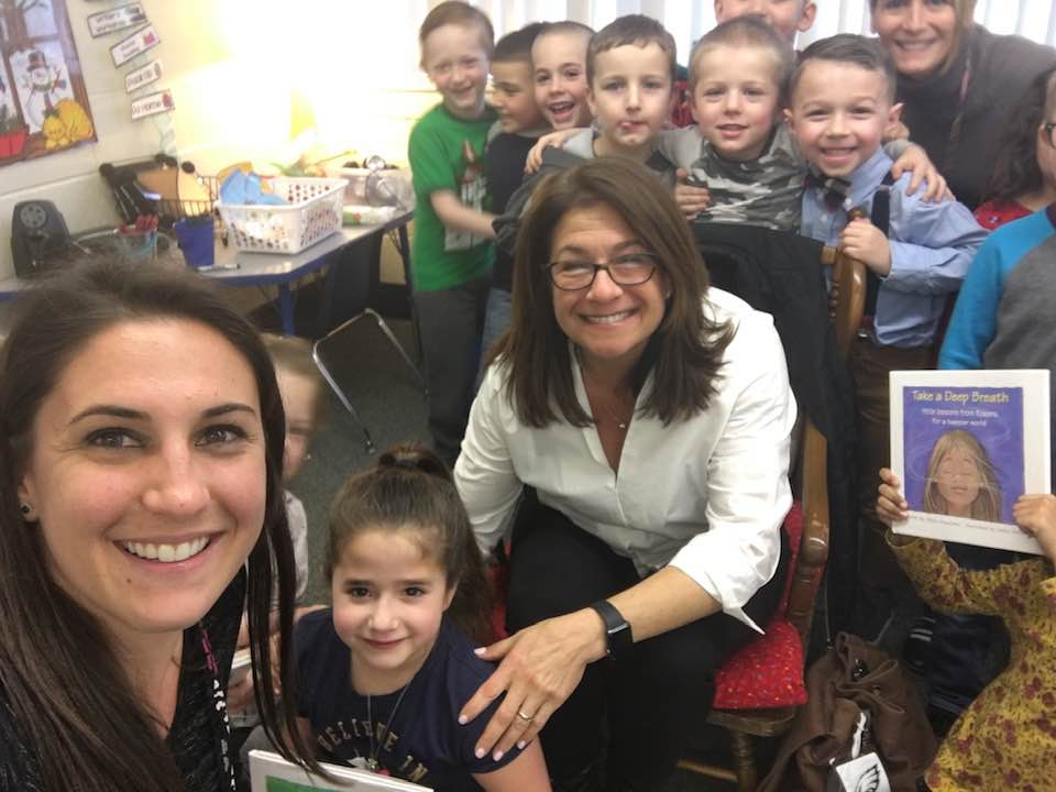 Allison speaking with a kindergarten class in New Jersey