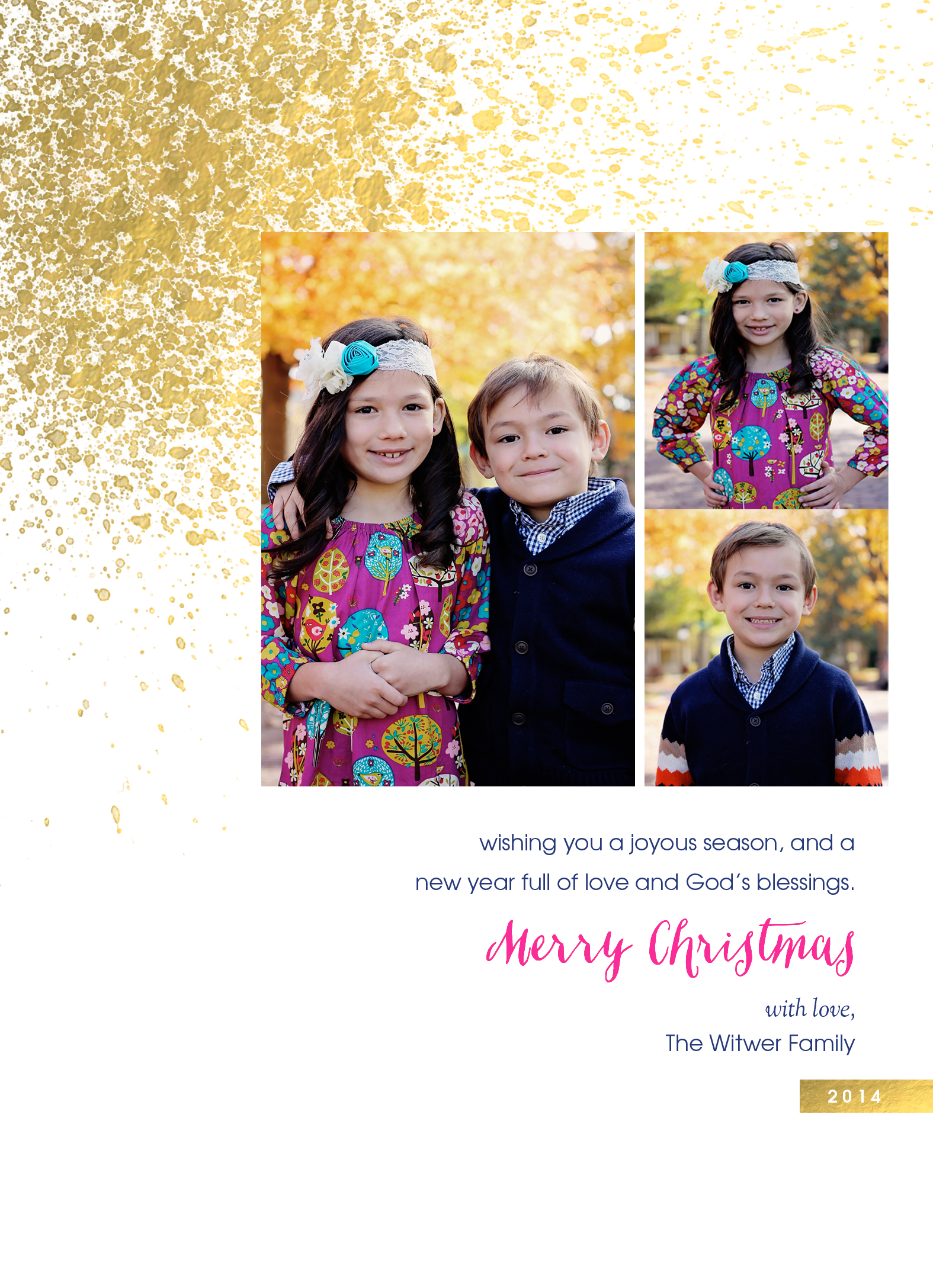 Back of our Christmas card!