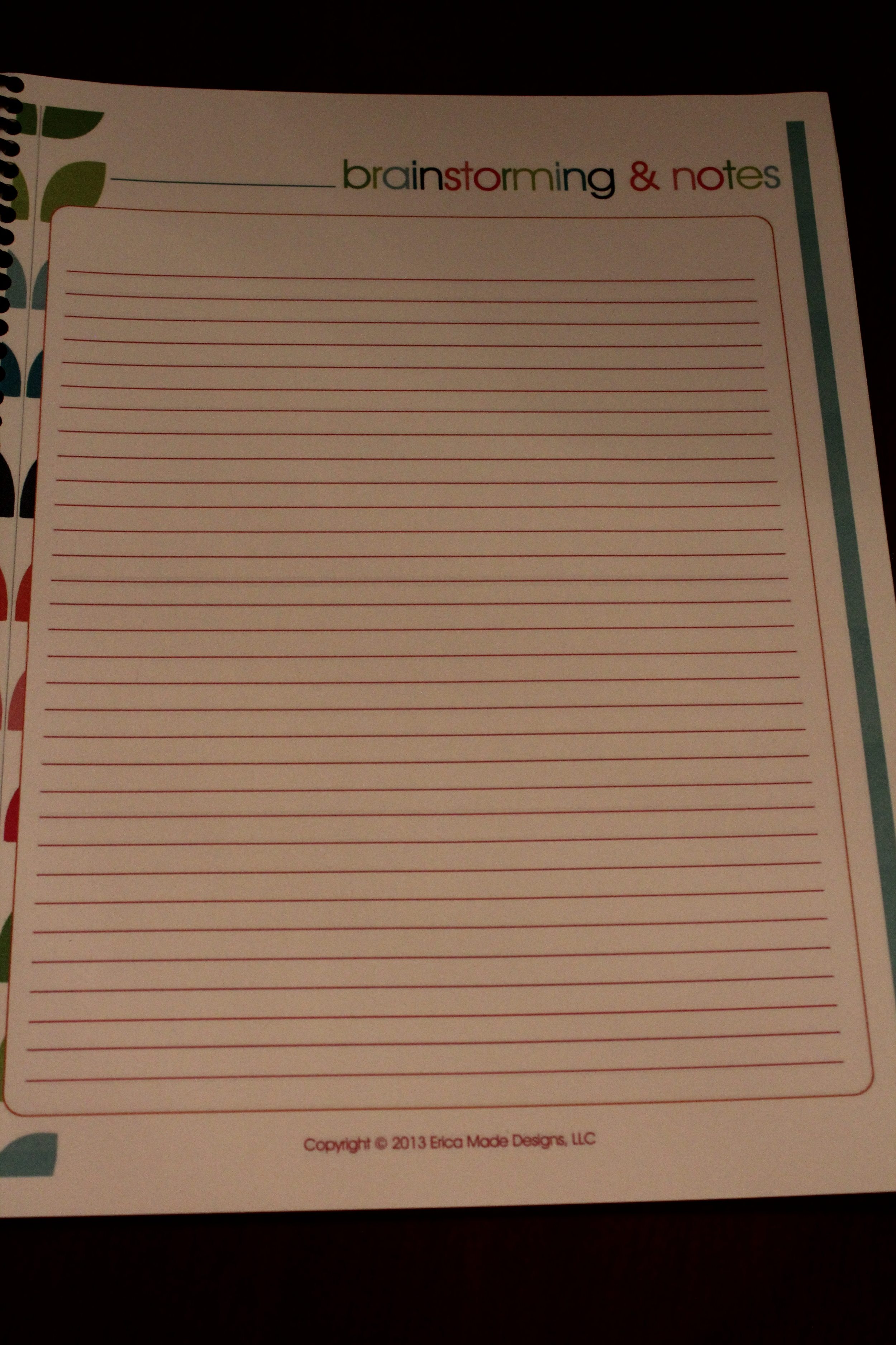 Adventures in Making Your Own Yearly Homeschool Planner.  Super Busy at Home Organization