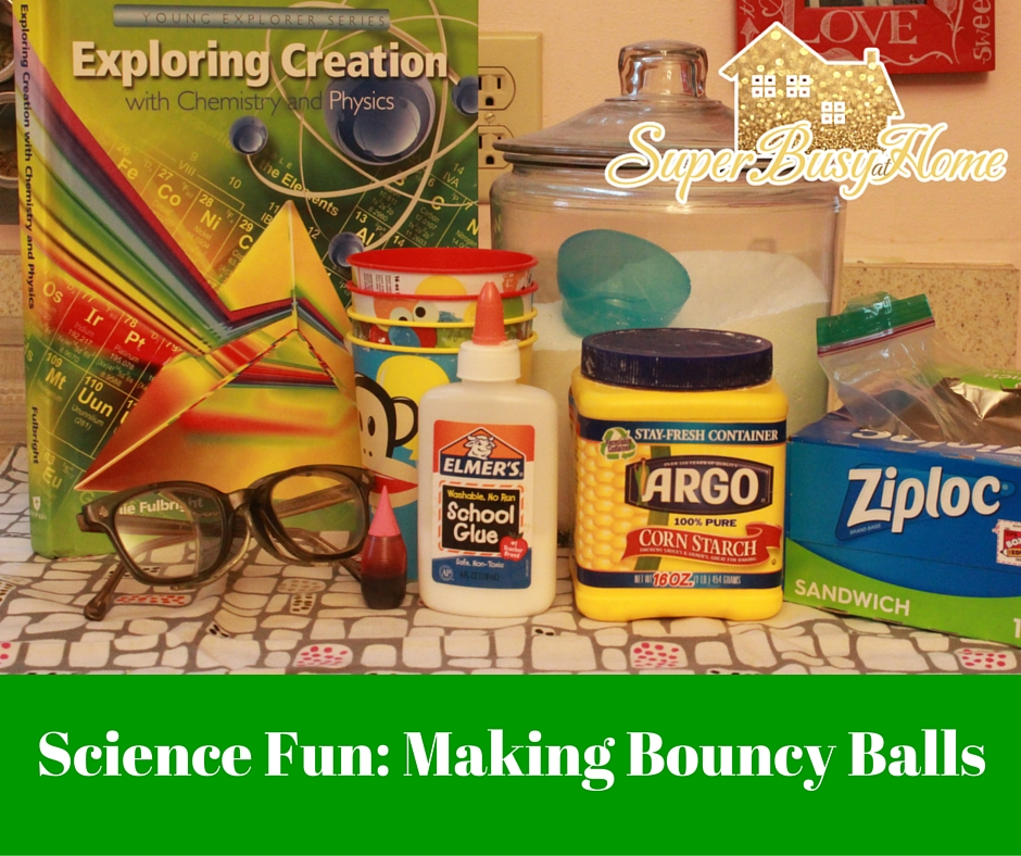 Learn how to make bouncy balls with this fun science experiment!  We're learning about chemical reactions and more over at Super Busy at Home!
