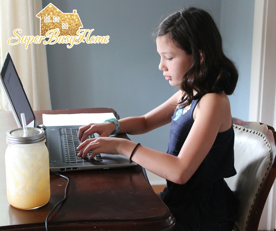 Homeschooling from a 4th Grader's perspective.  Super Busy at Home.