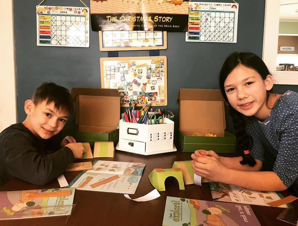 Homeschool classrooms and kiwi crate time!  Super Busy at Home