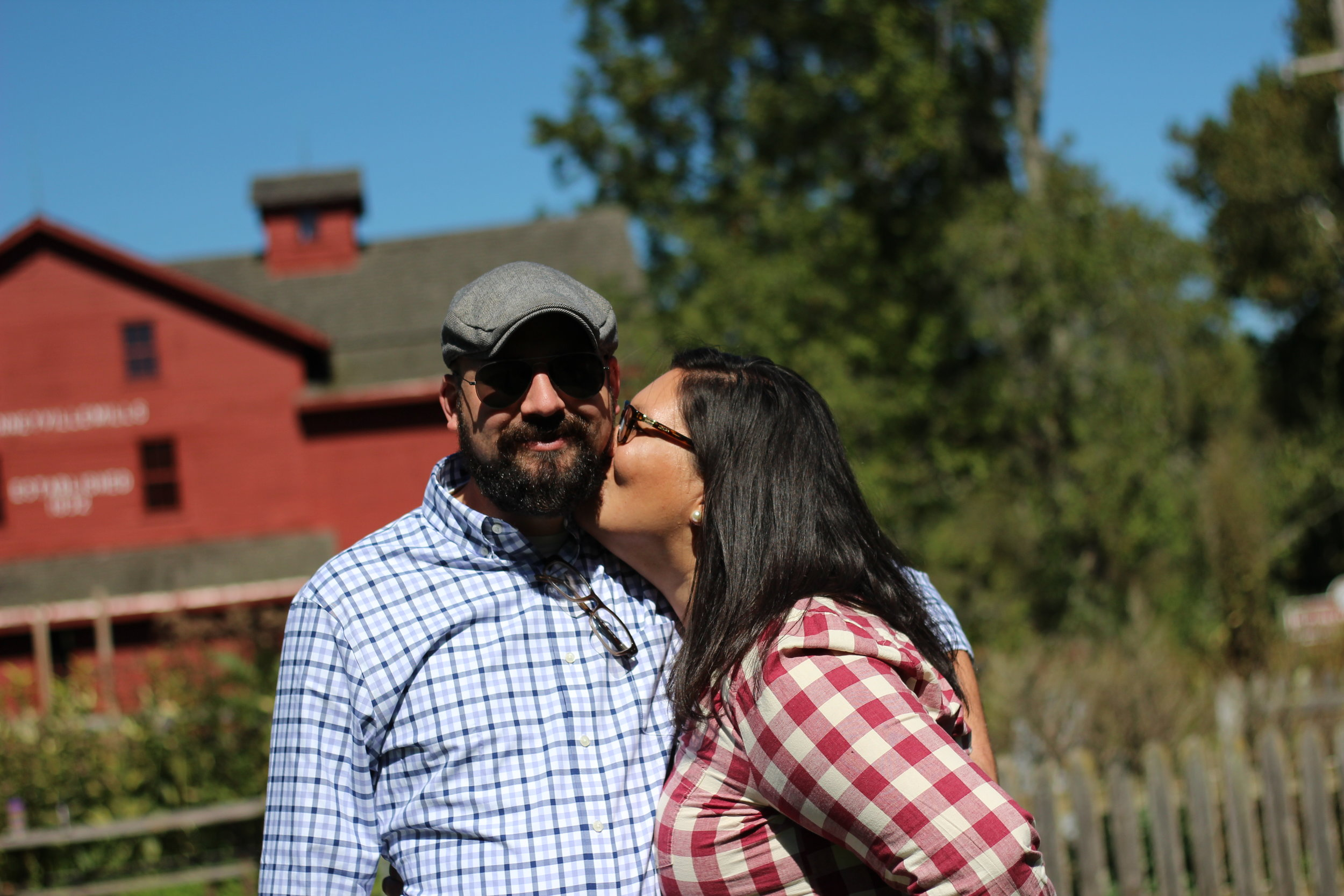 Truly Happy with myself and my husband at Bonneville Mill, Bristol Indiana