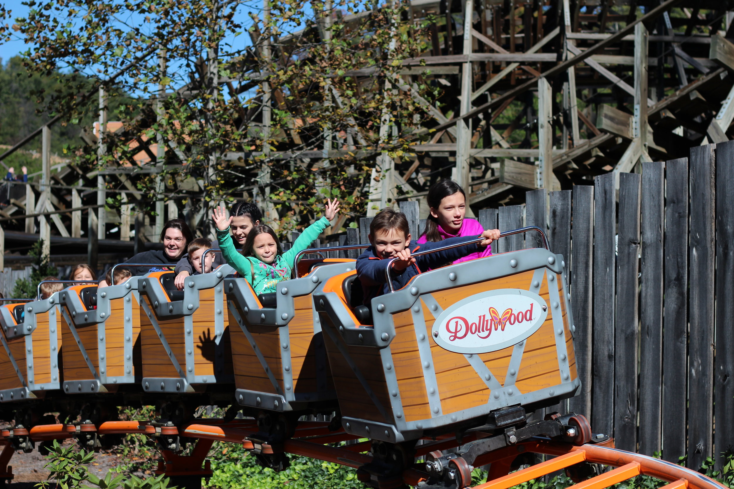 Dollywood Tweener Roller Coaster.  Really, Fun for Everyone in the Family