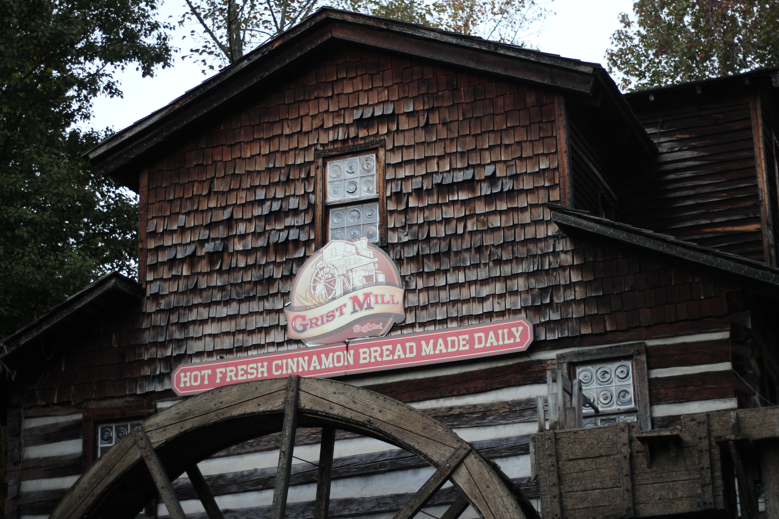 Dollywood Grist Mill, where you get the Cinnamon Bread