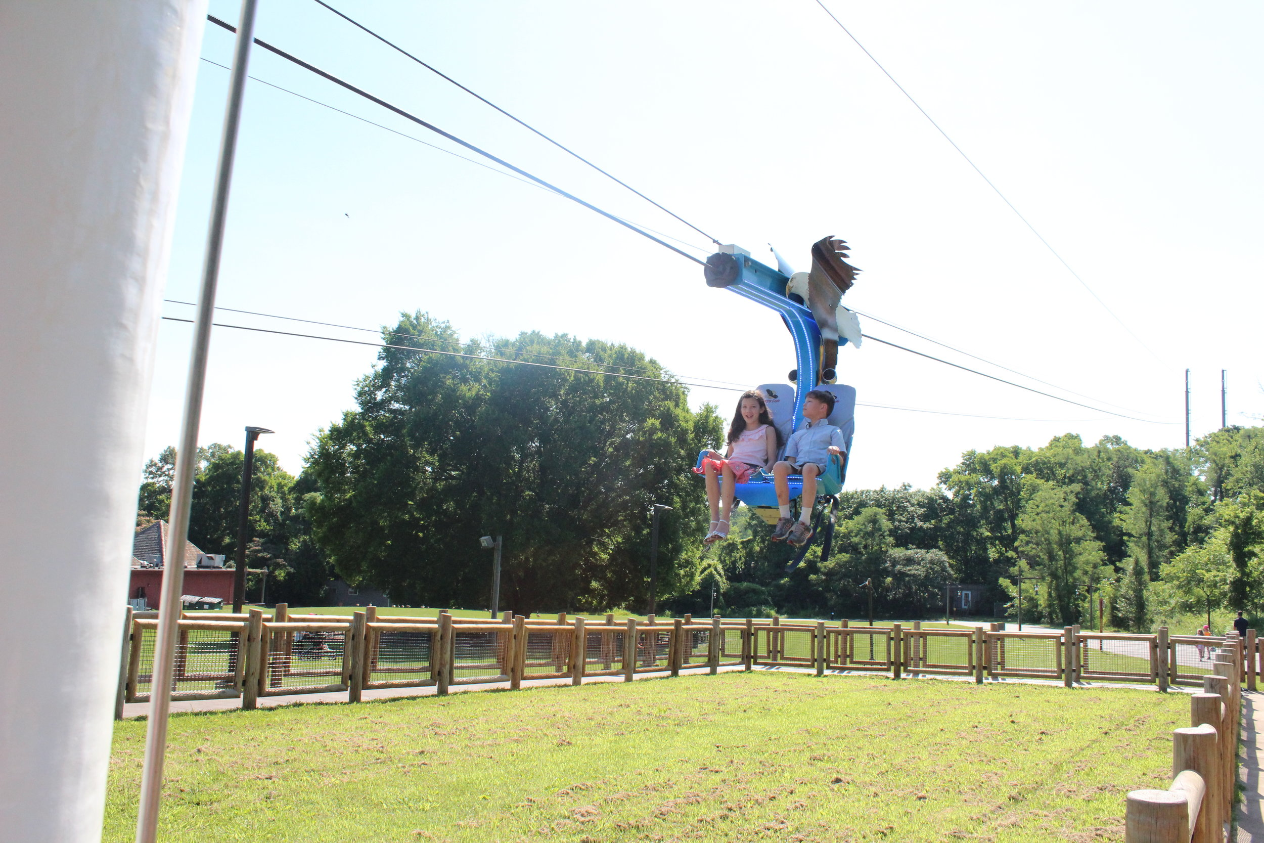 Great Kid Friendly Places to Visit in Nashville the eagle zip line at the Nashville Zoo