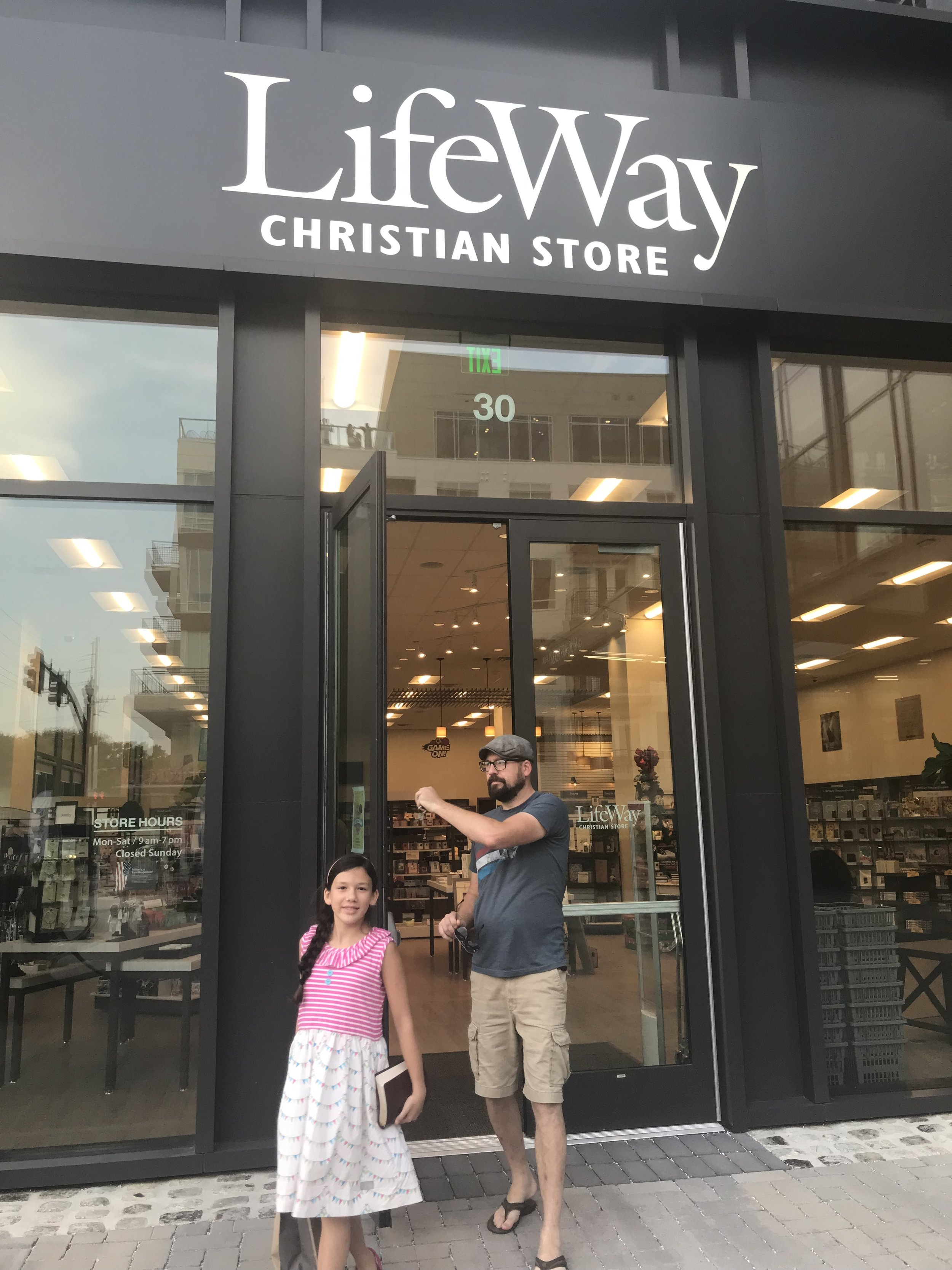 Great Kid Friendly Places to Visit in Nashville like this LifeWay Christian Bookstore