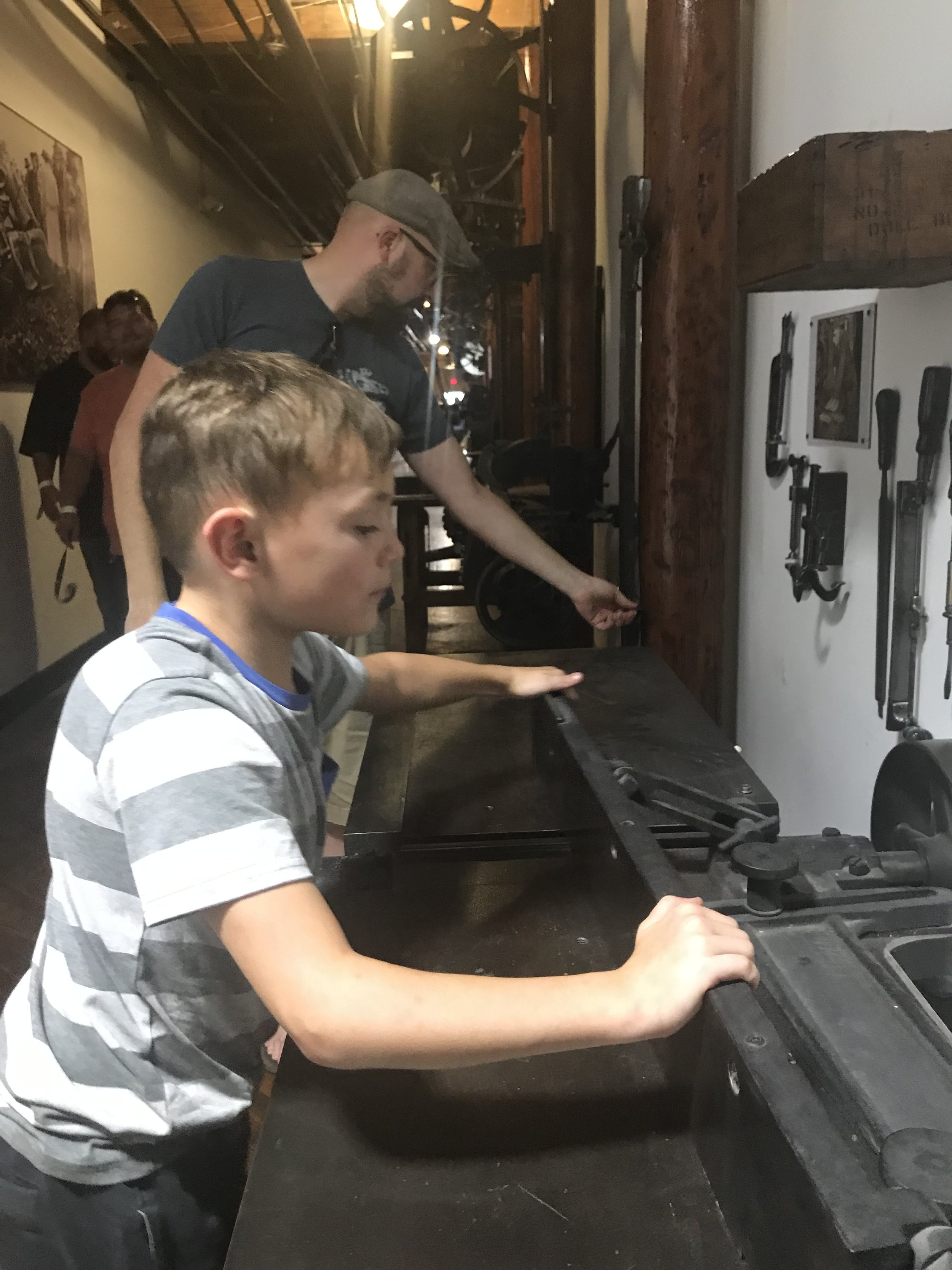 Great Kid Friendly Places to Visit in Nashville you can find cool tools and artifacts in the Marathon building with Antique Archaeology