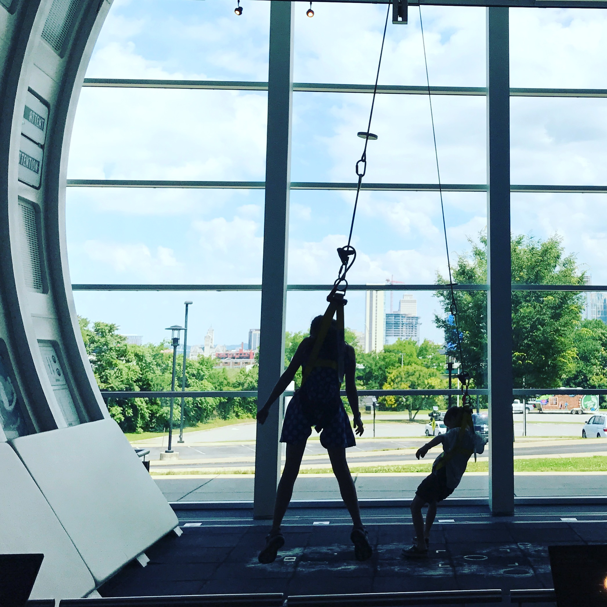 Great Kid Friendly Places to Visit in Nashville, Being weightless in the Adventure Science Center
