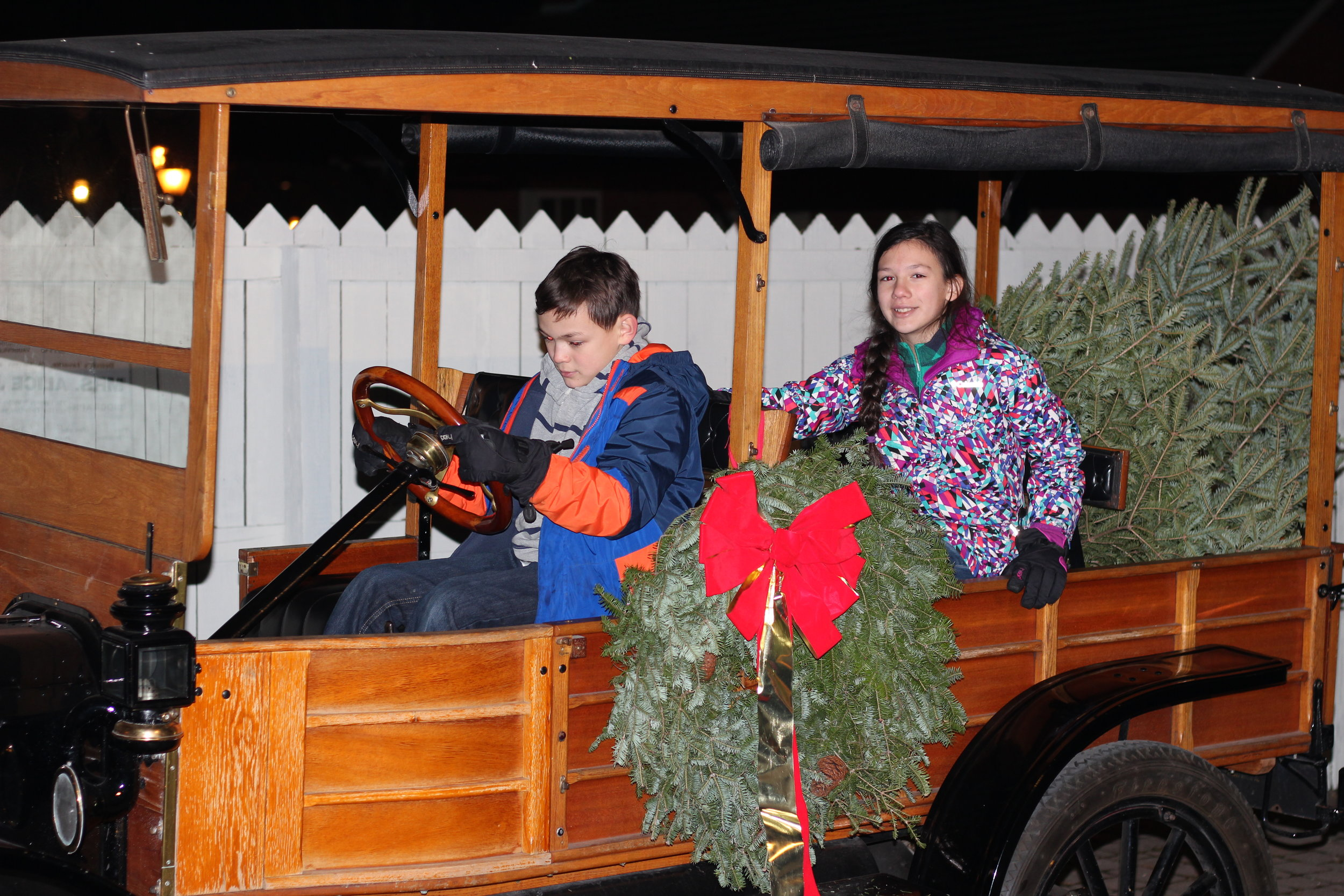 Model T rides for everyone! @ Holiday Nights, Greenfield Village