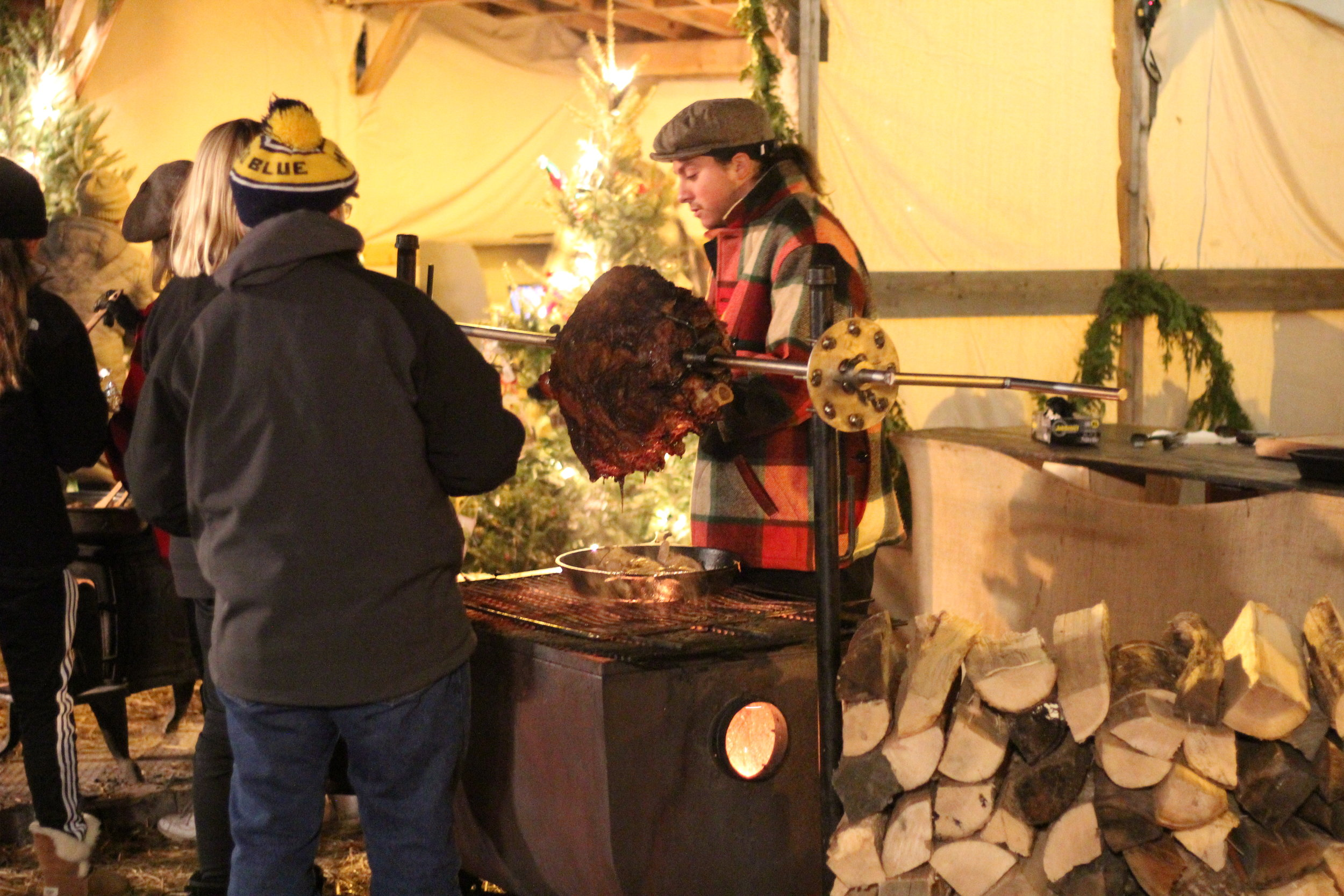 Roast Beef at Holiday Nights, Greenfield Village