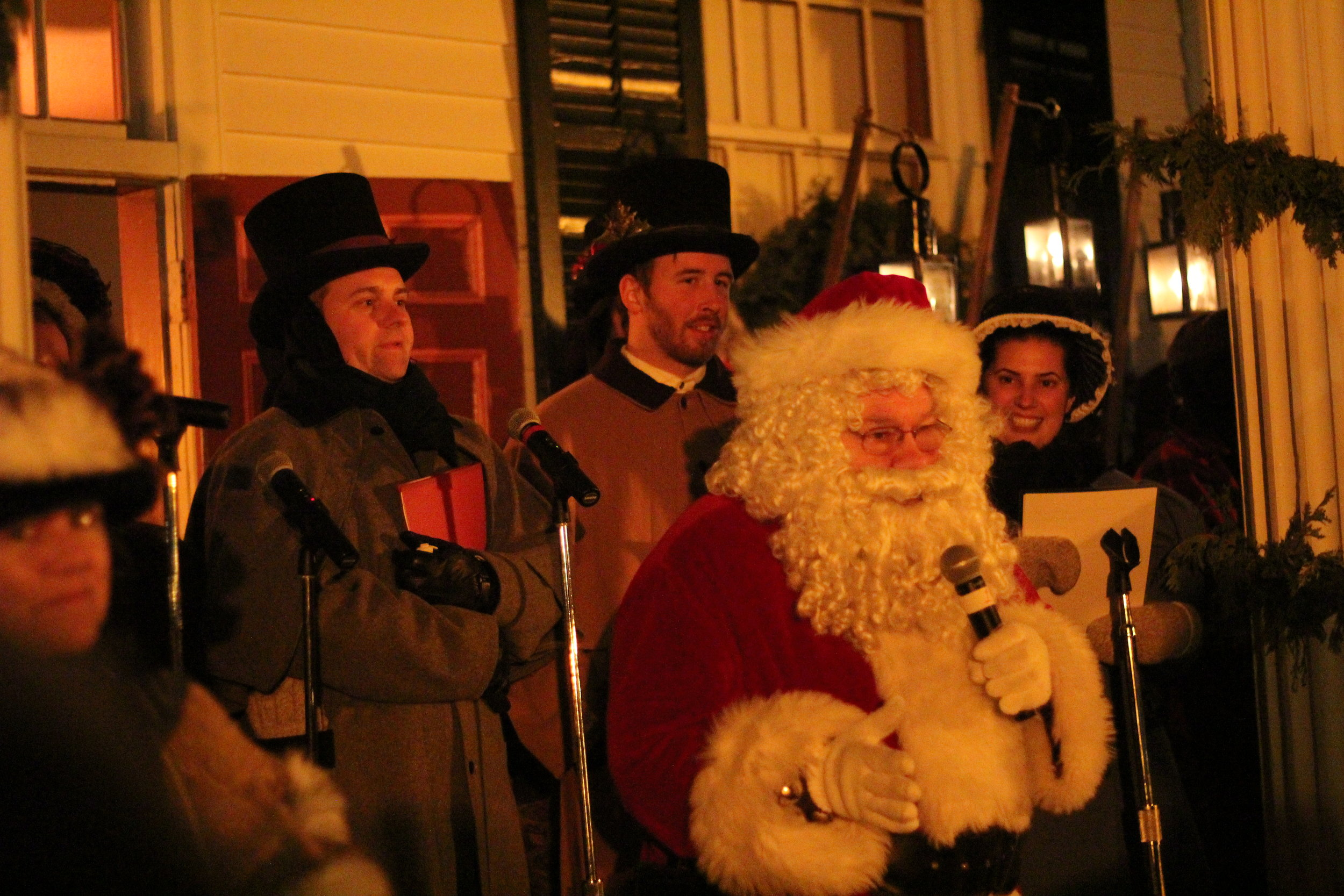 Santa Dropping a beat, Holiday Nights, Greenfield Village