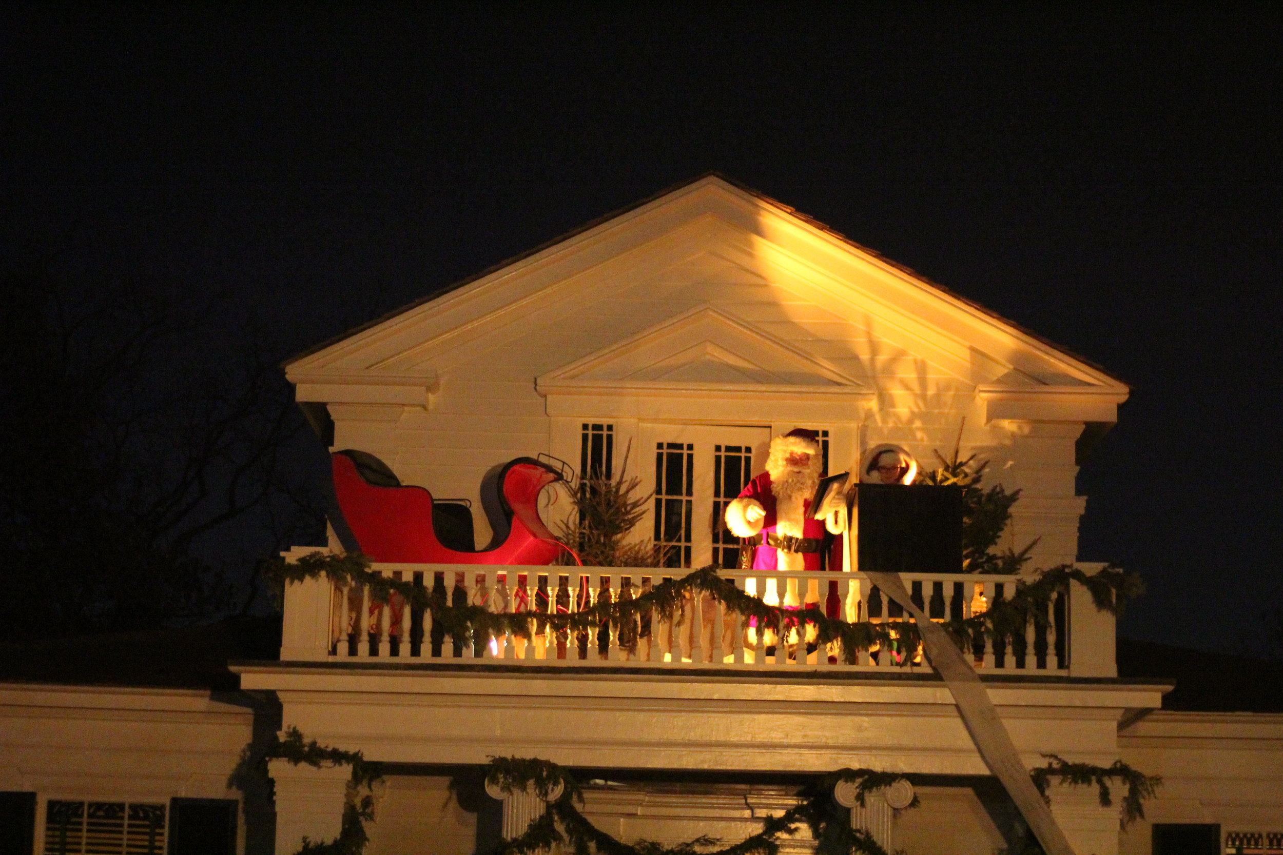 Santa reading the names of children Holiday Nights, Greenfield Village