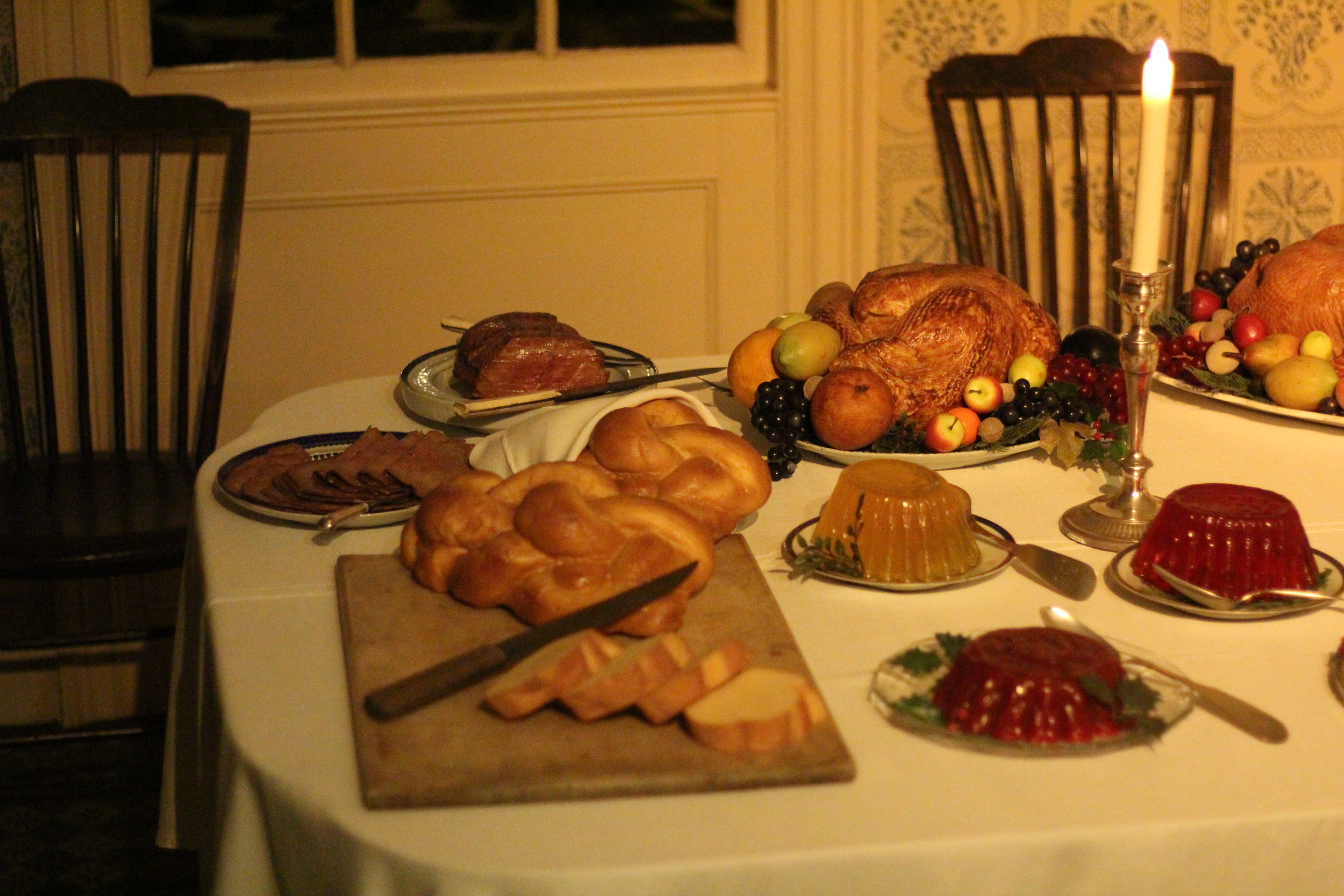Victorian Christmas Table, Noah Websters House, Holiday Nights, Greenfield Village