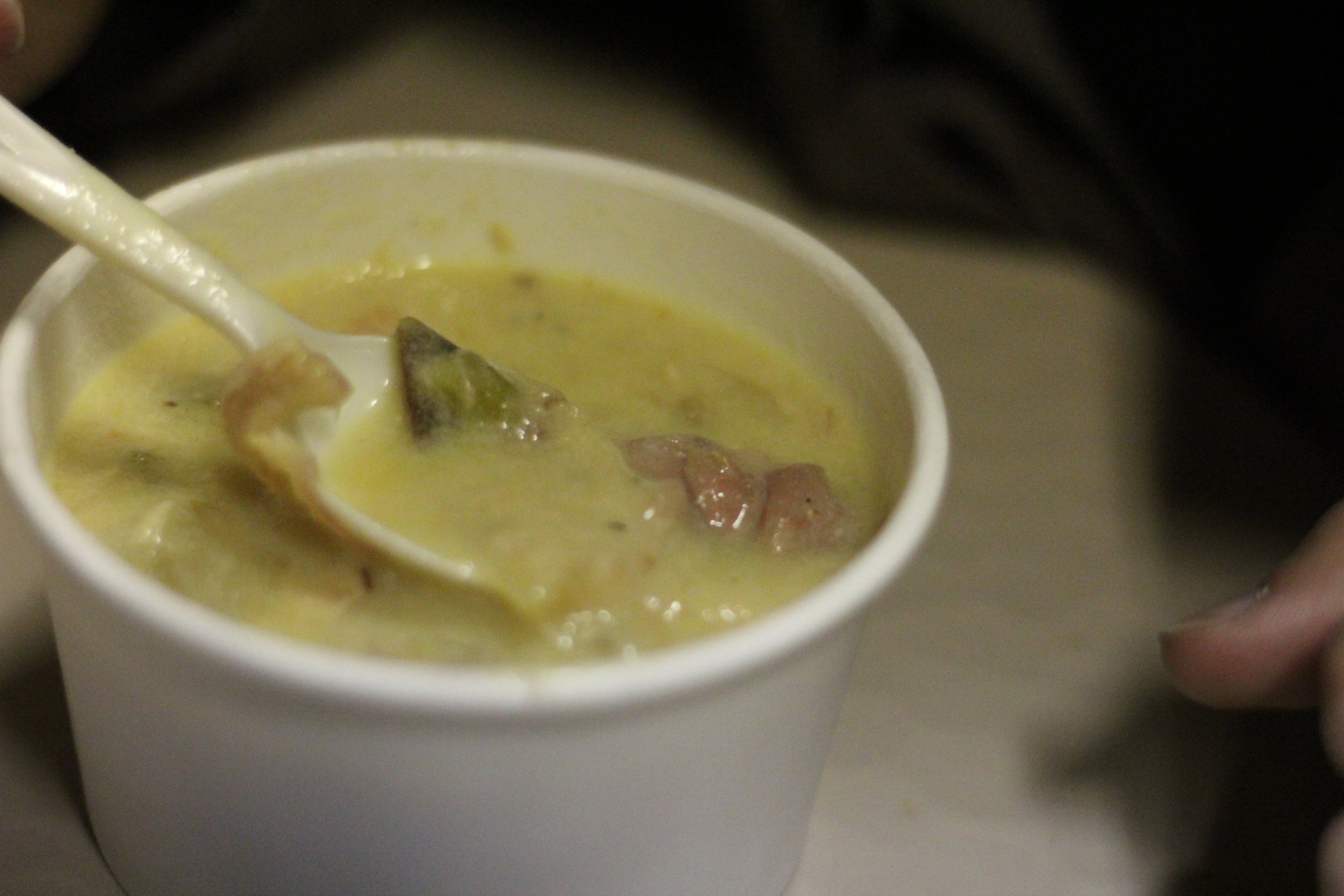 Chicken and Dumplings, some of the good food at Holiday Nights, Greenfield Village