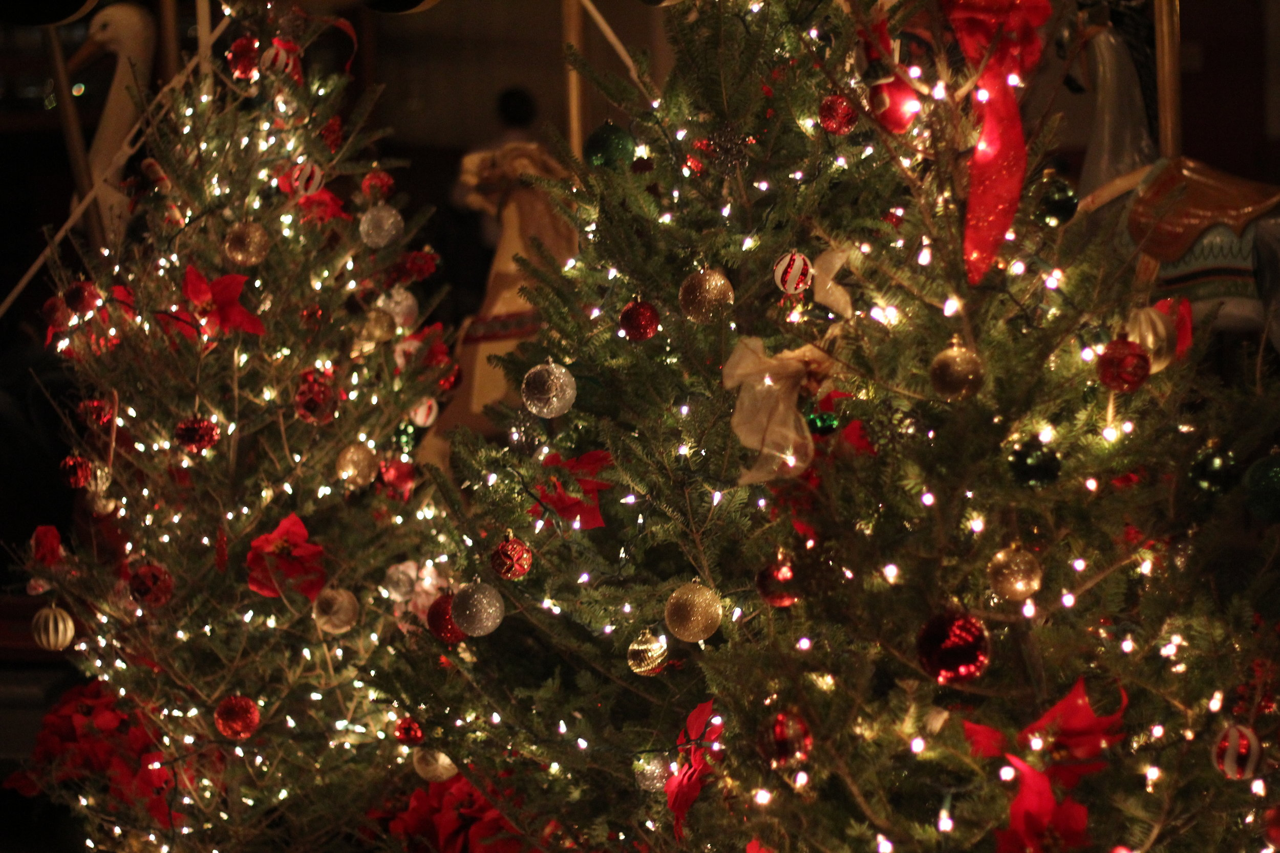 Christmas Decor at Holiday Nights at Greenfield Village