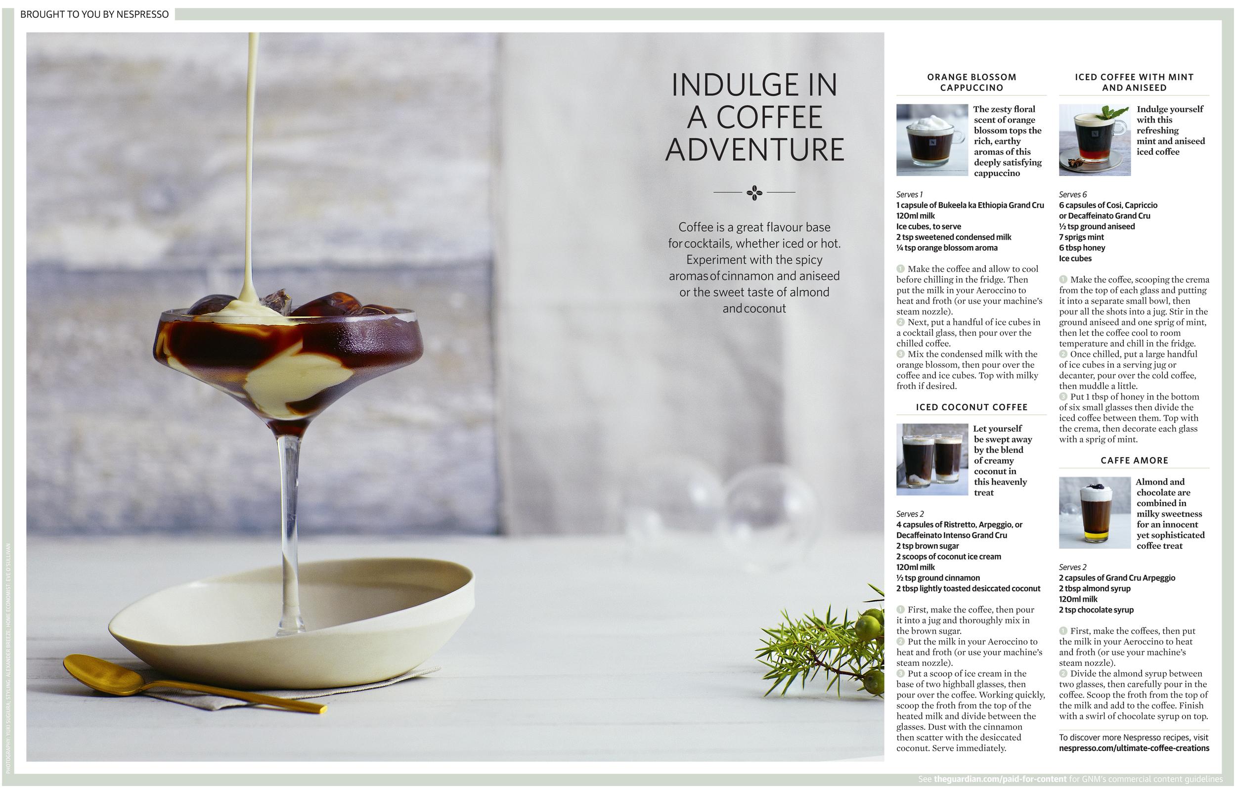 Nespresso Mocktails - OFM. Commissioning and art direction