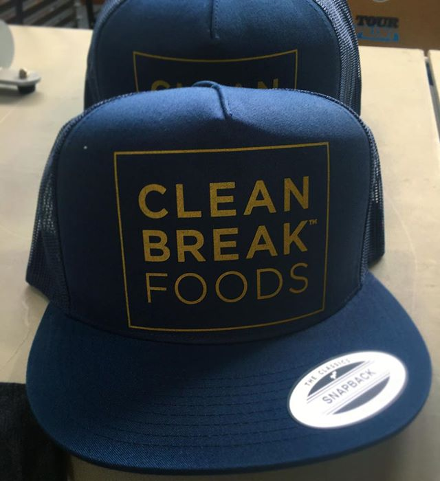 Flashing back to these snapbacks for @cleanbreakfoods !  #cleaneating #cleanbreakfoods #chef #chefninarualo #snapback #foodie #gold