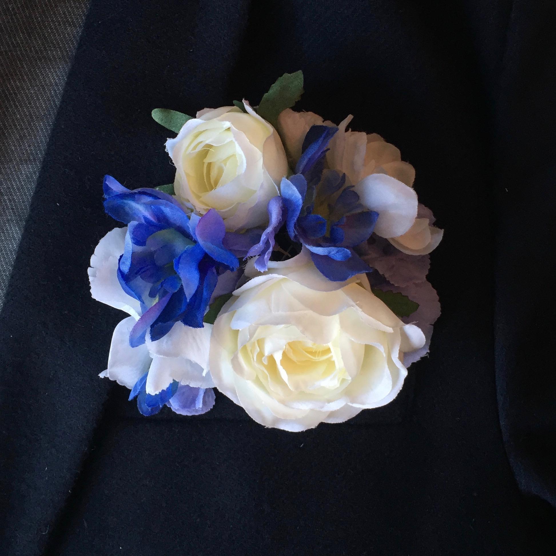 Bespoke floral pocket square