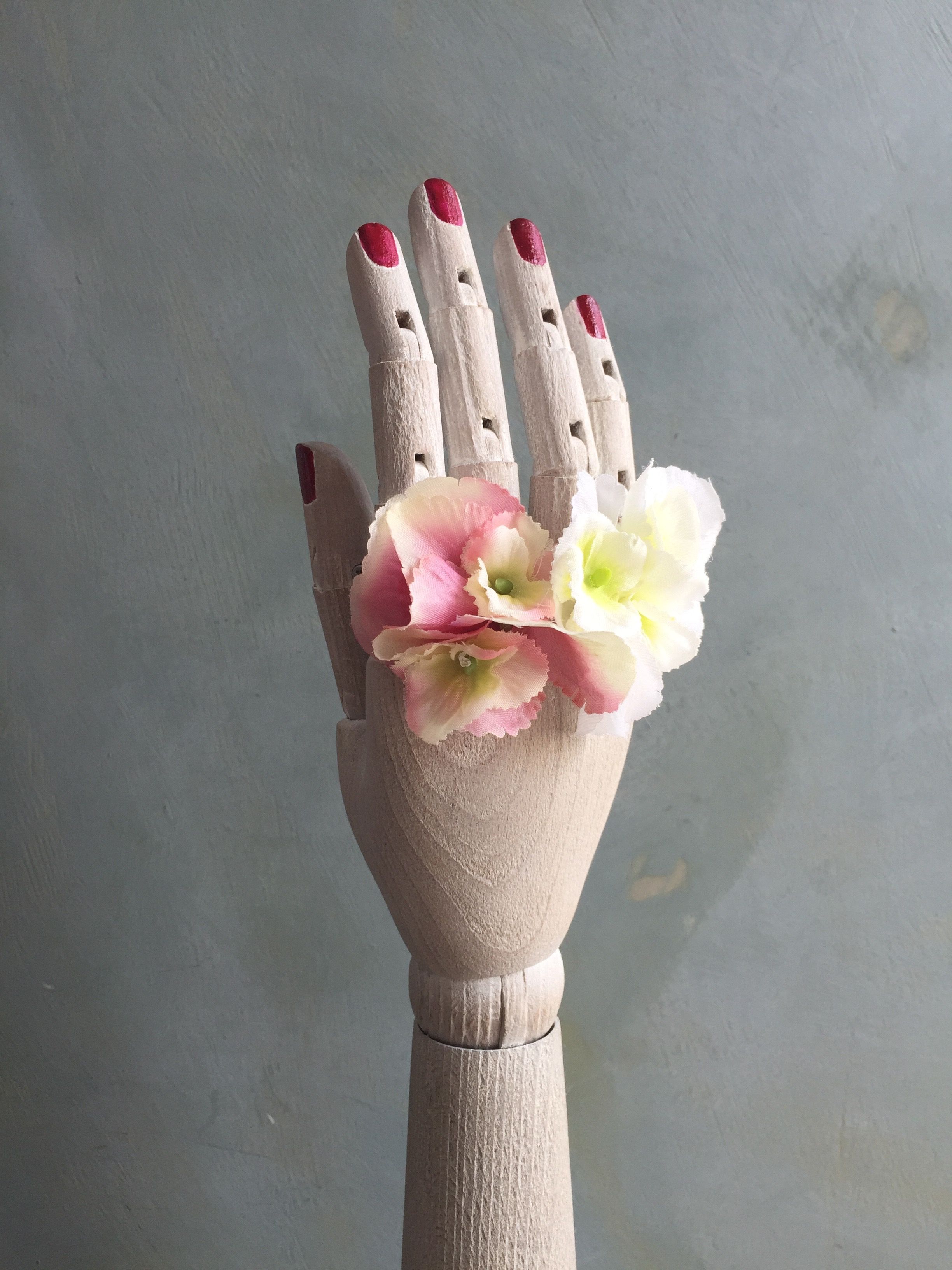 Faux floral rings
