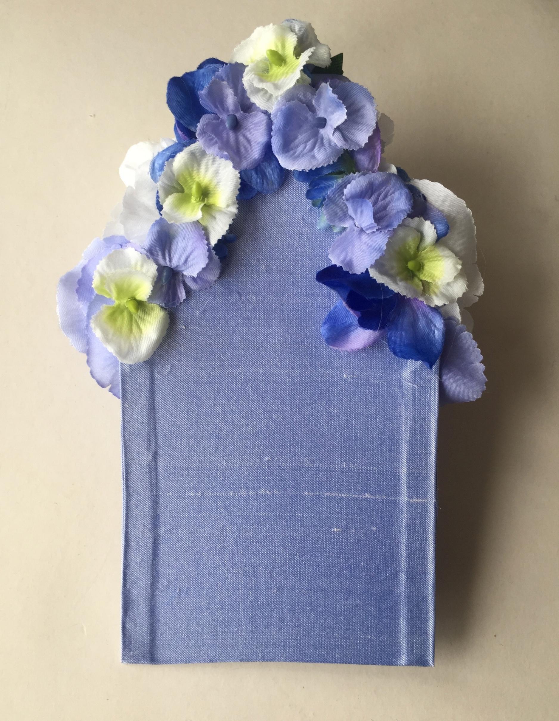 Bespoke floral pocket square (back)