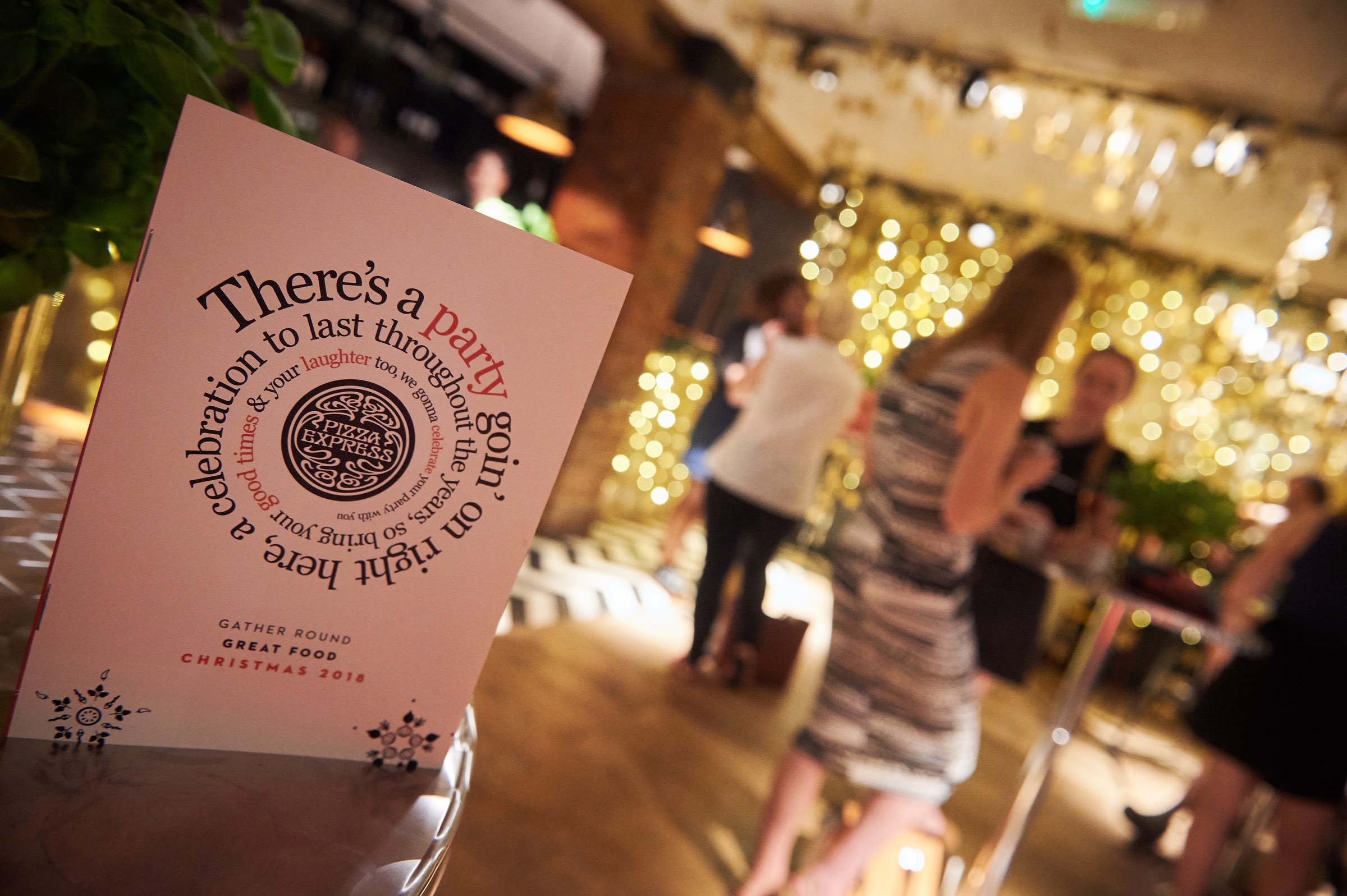 Pizza Express Christmas Menu Press Event
