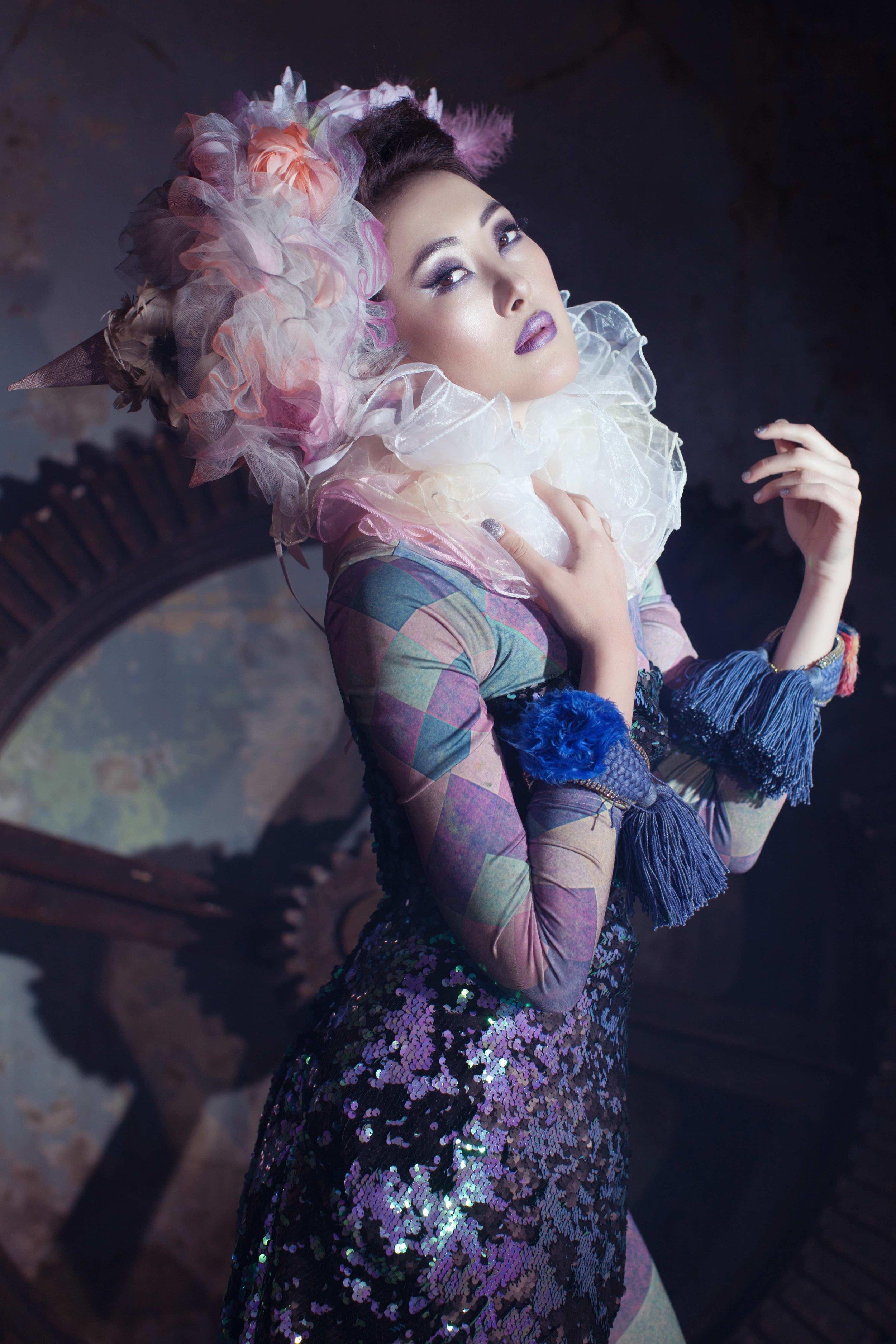 Circus Headpiece in Elegant Magazine