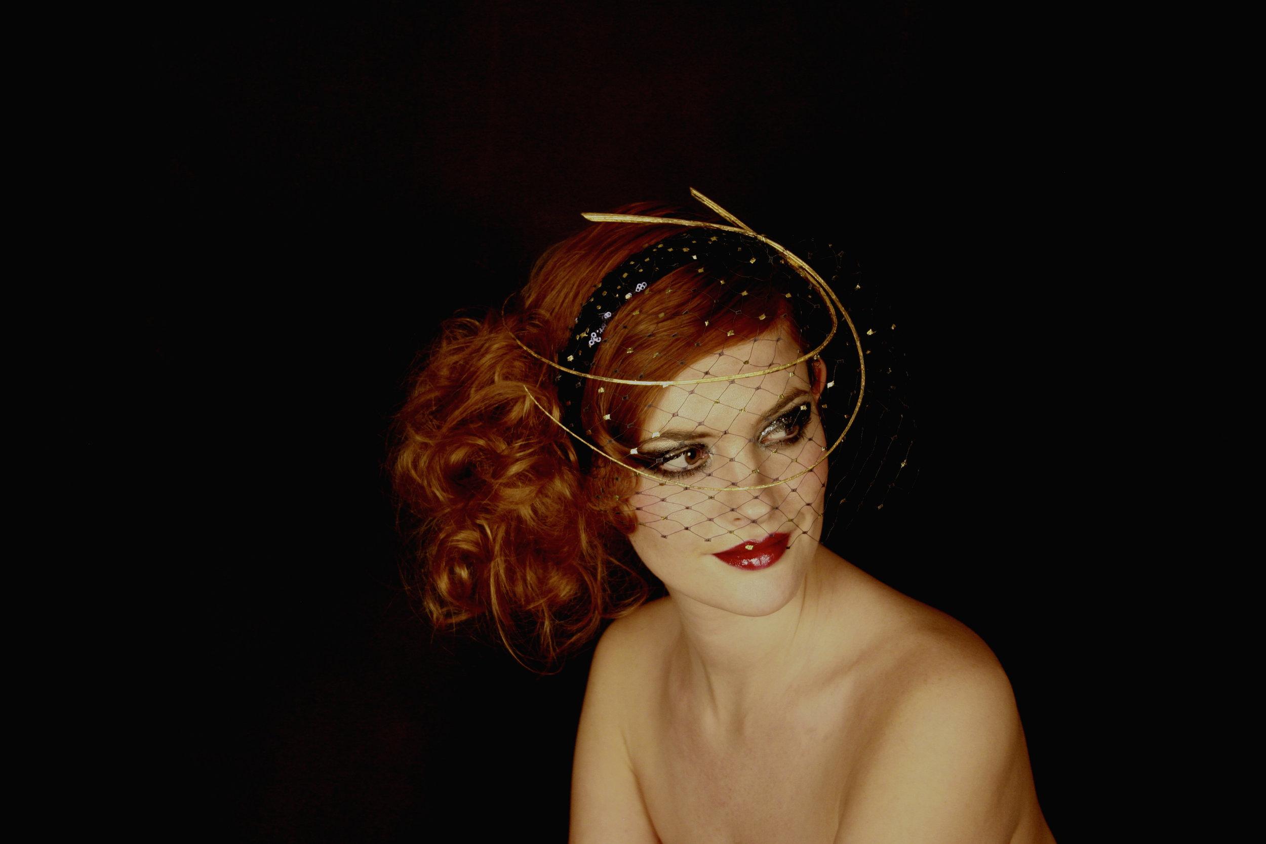 Lyra veiling headpiece