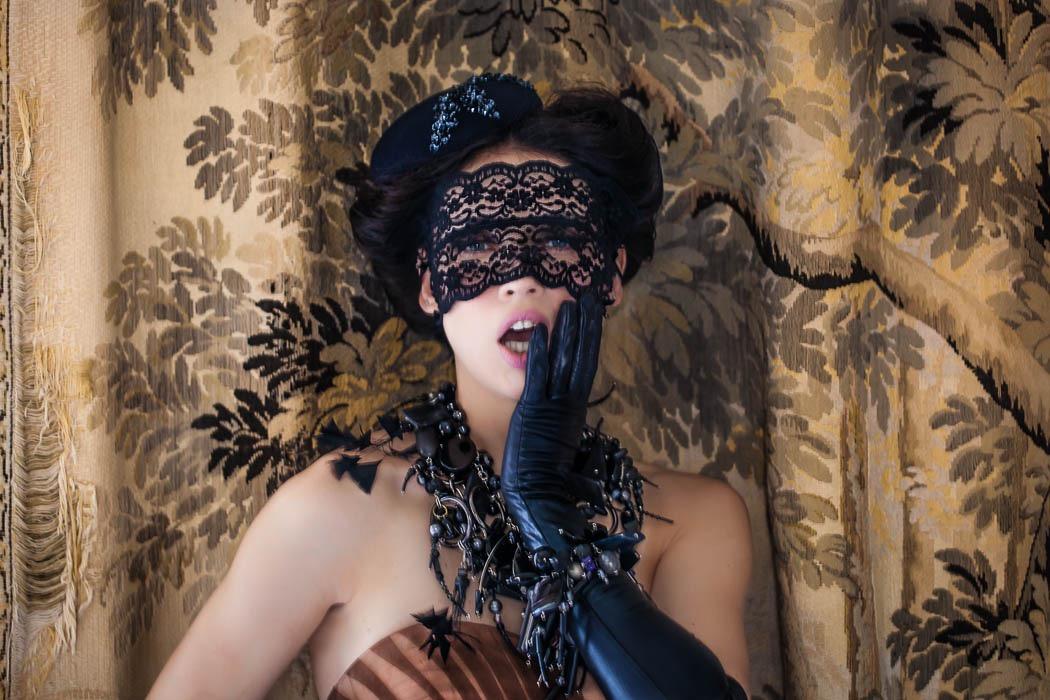 Sequin & felt percher hat