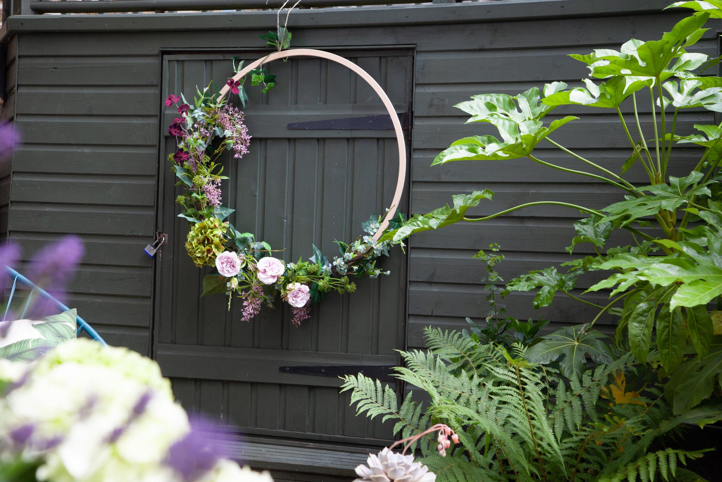Wreath on the playhouse