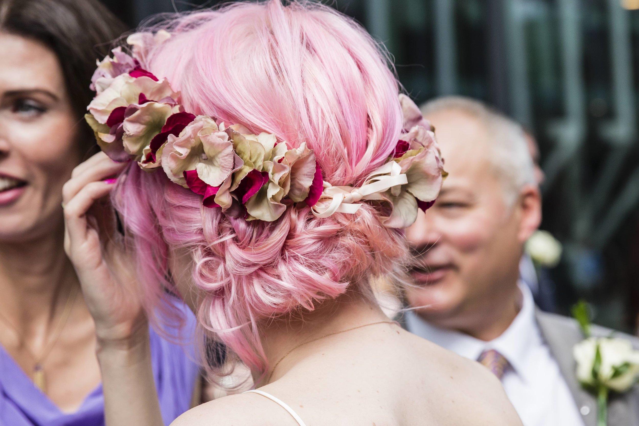 Bespoke faux floral headband